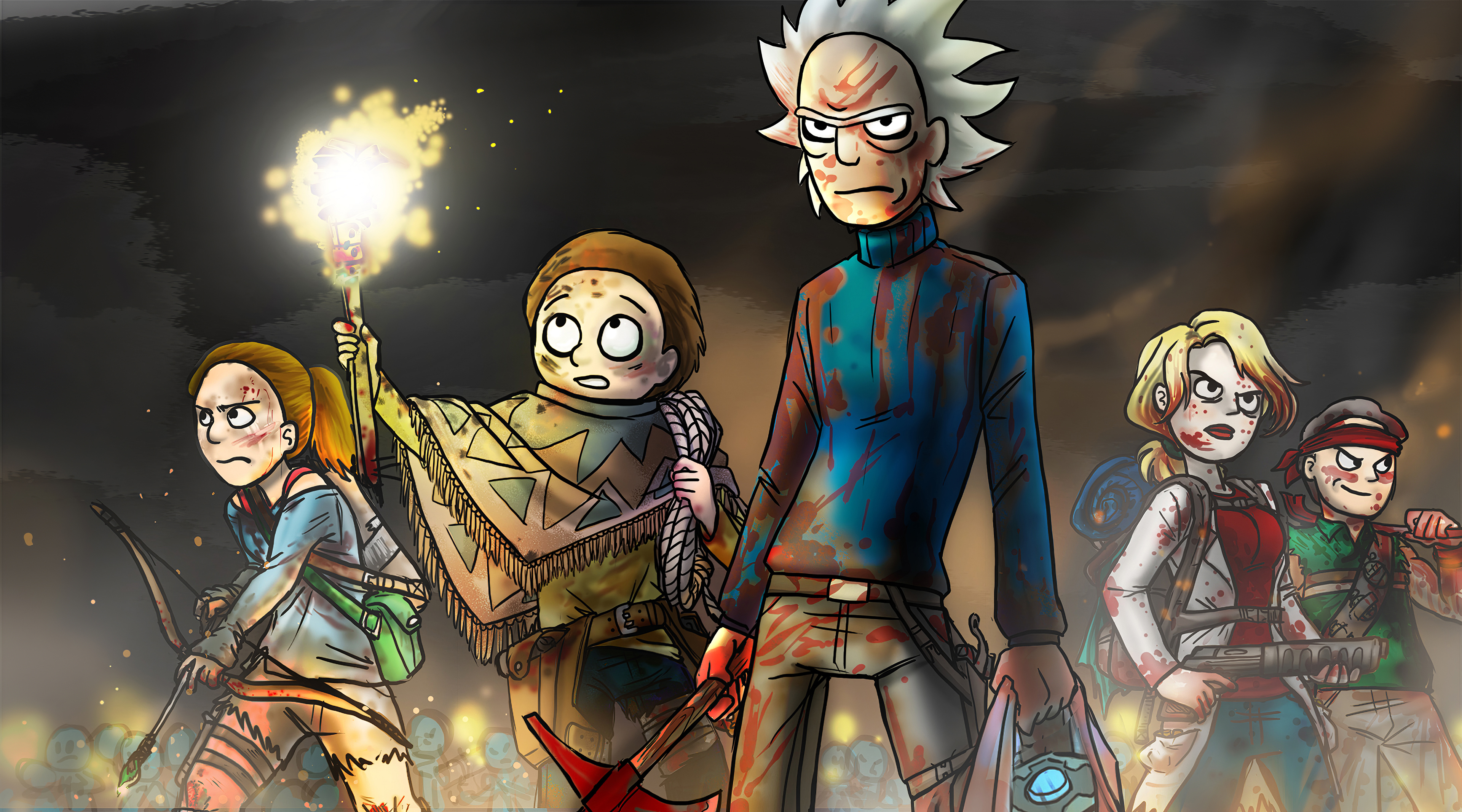 Wallpaper 4k Rick And Morty Warpath Rick And Morty Warpath 4k