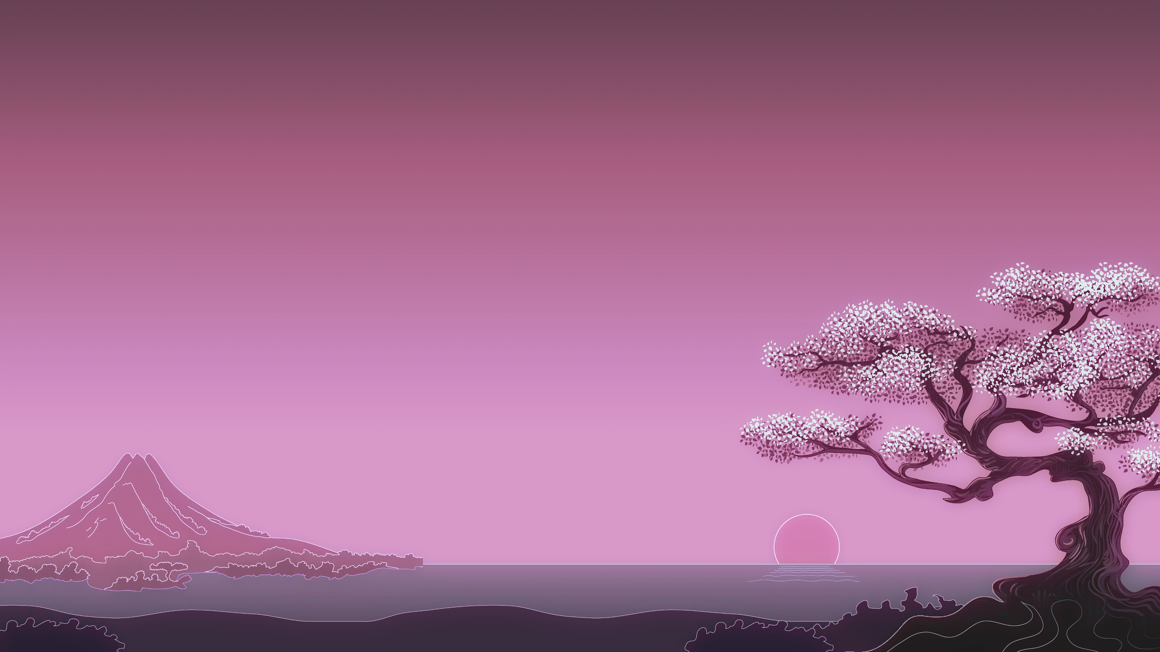 Wallpaper 4k Sakura Japanese Minimal Art Sakura 4k Wallpapers Sakura Japanese Minimal Art Wallpaper Sakura Wallpapers