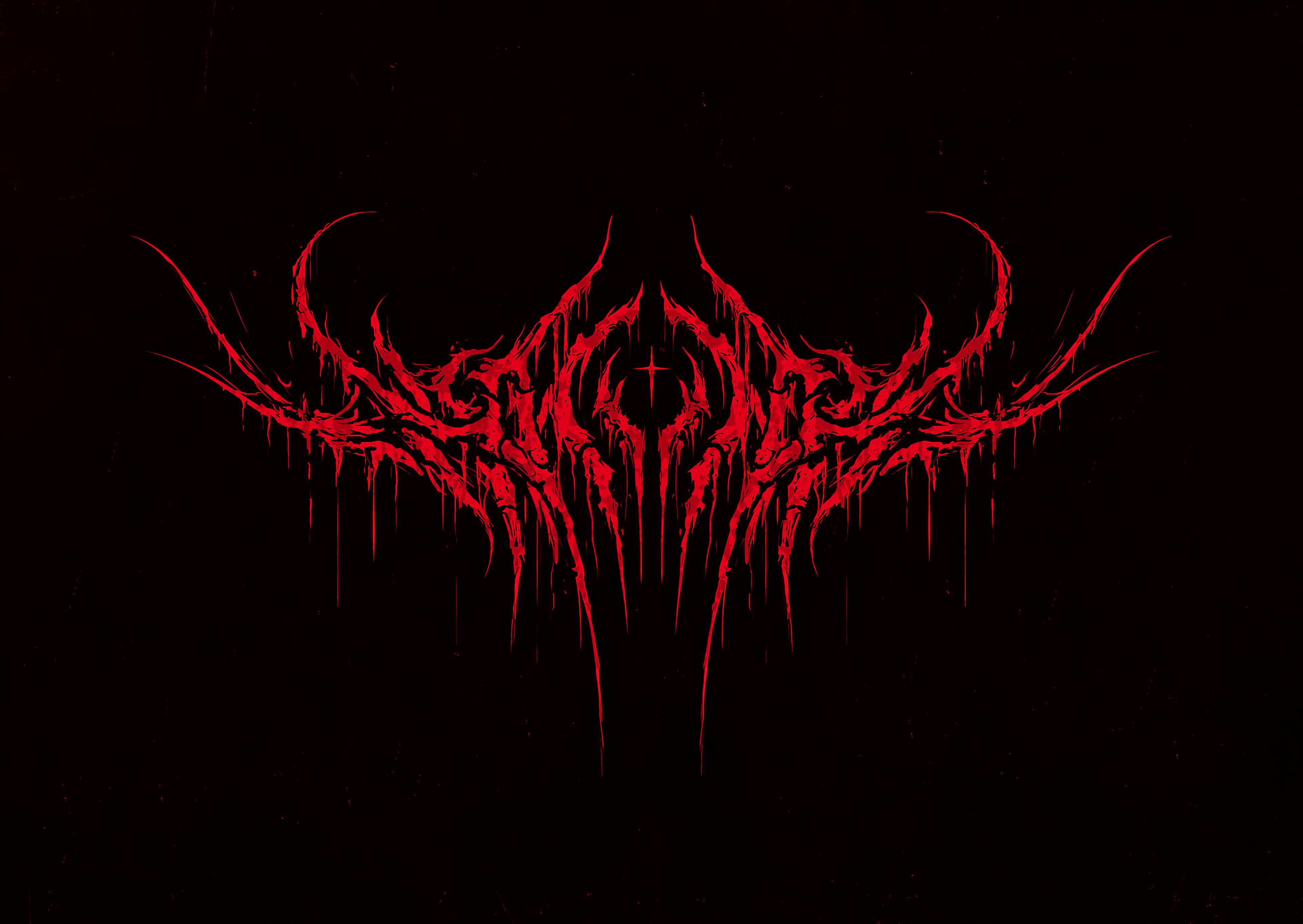 Wallpaper 4k Shining Hollow Black Metal Logo