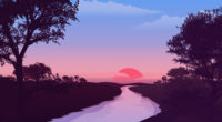 small lake red sunset 1580055547 200x110 - Small Lake Red Sunset -