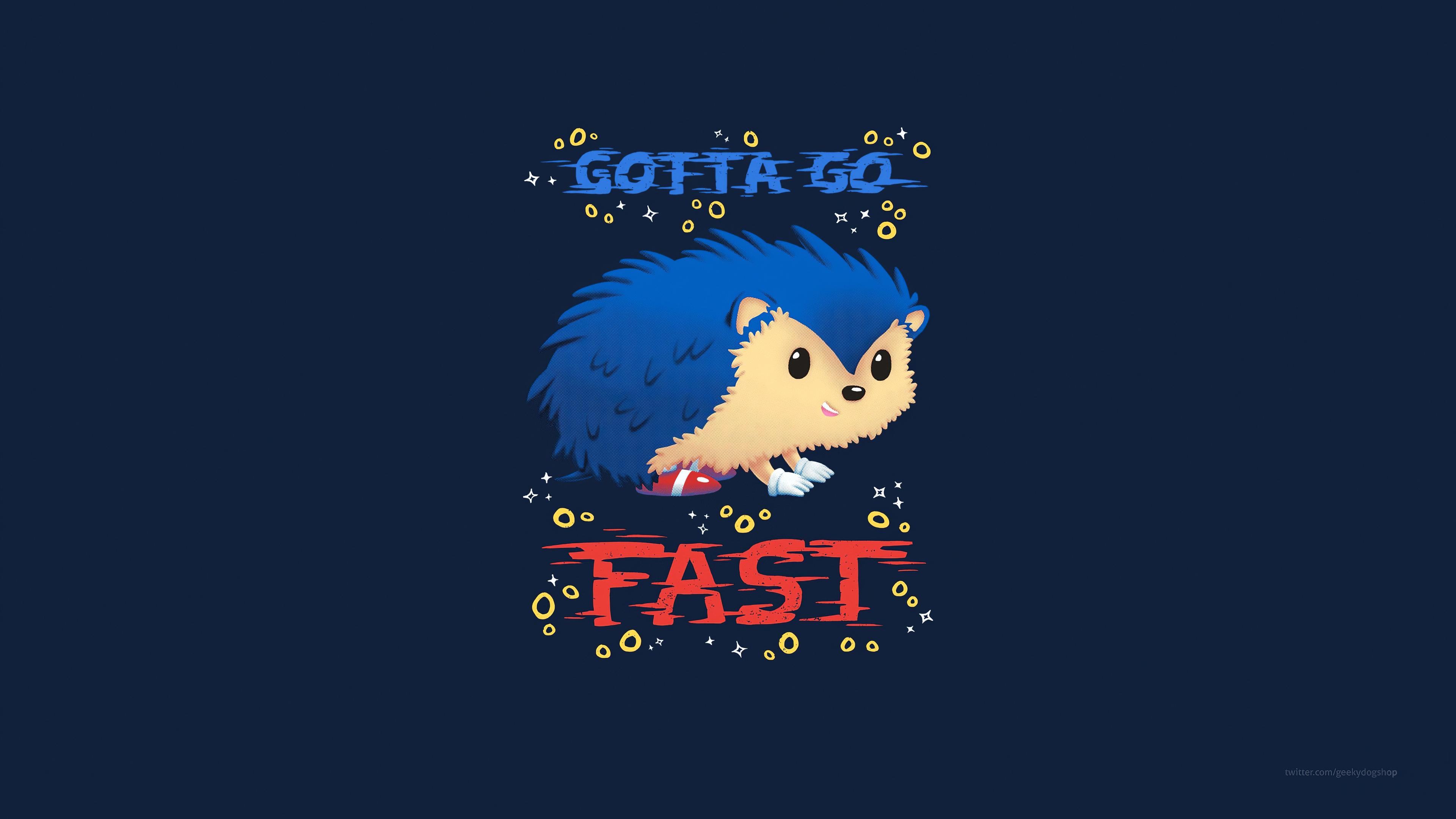 sonic the hedgehog minimal art 1579648189 - Sonic The Hedgehog Minimal Art - Sonic The Hedgehog Minimal Art wallpaper 4k