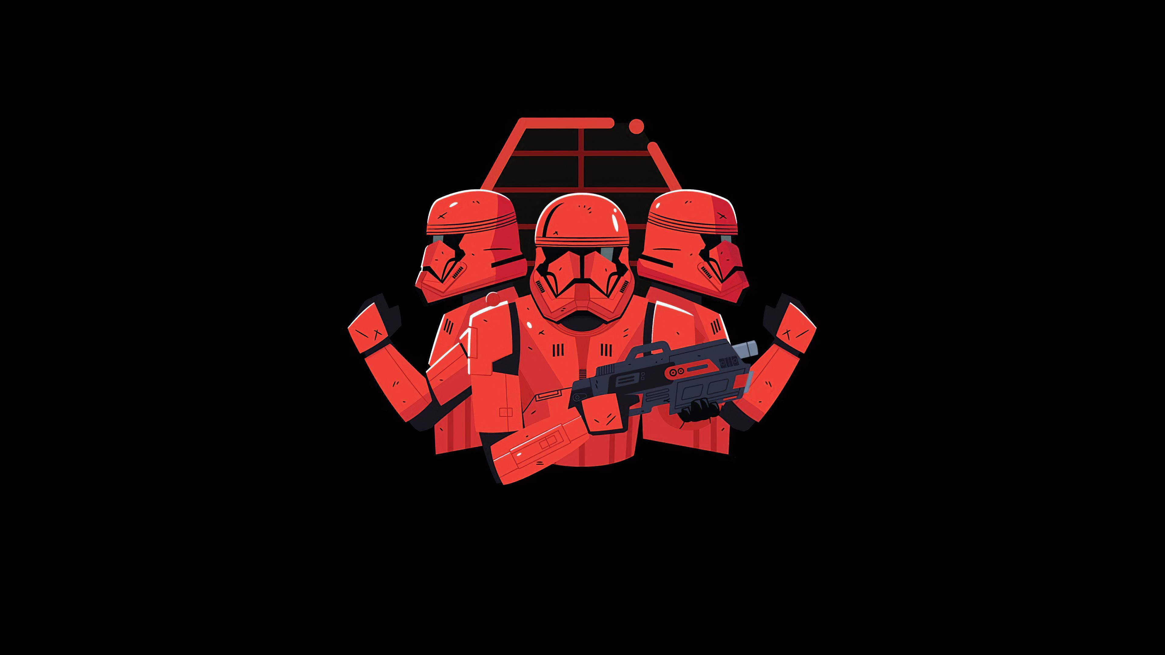 Wallpaper 4k Star Wars Stormtrooper Minimal