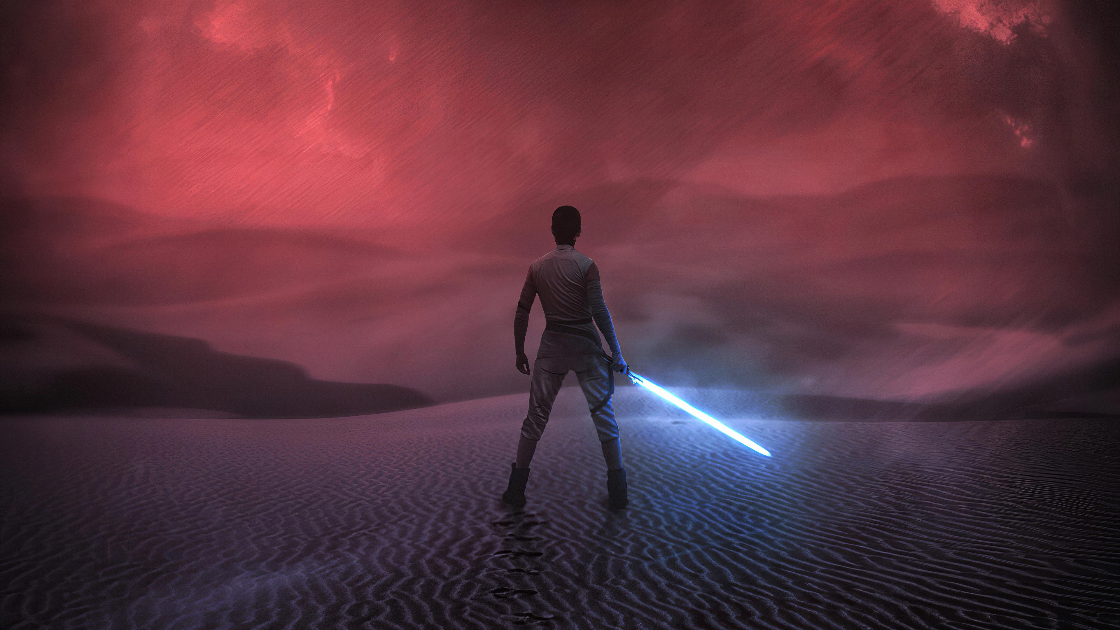 Wallpaper 4k Star Wars The Rise Of Skywalker Rey