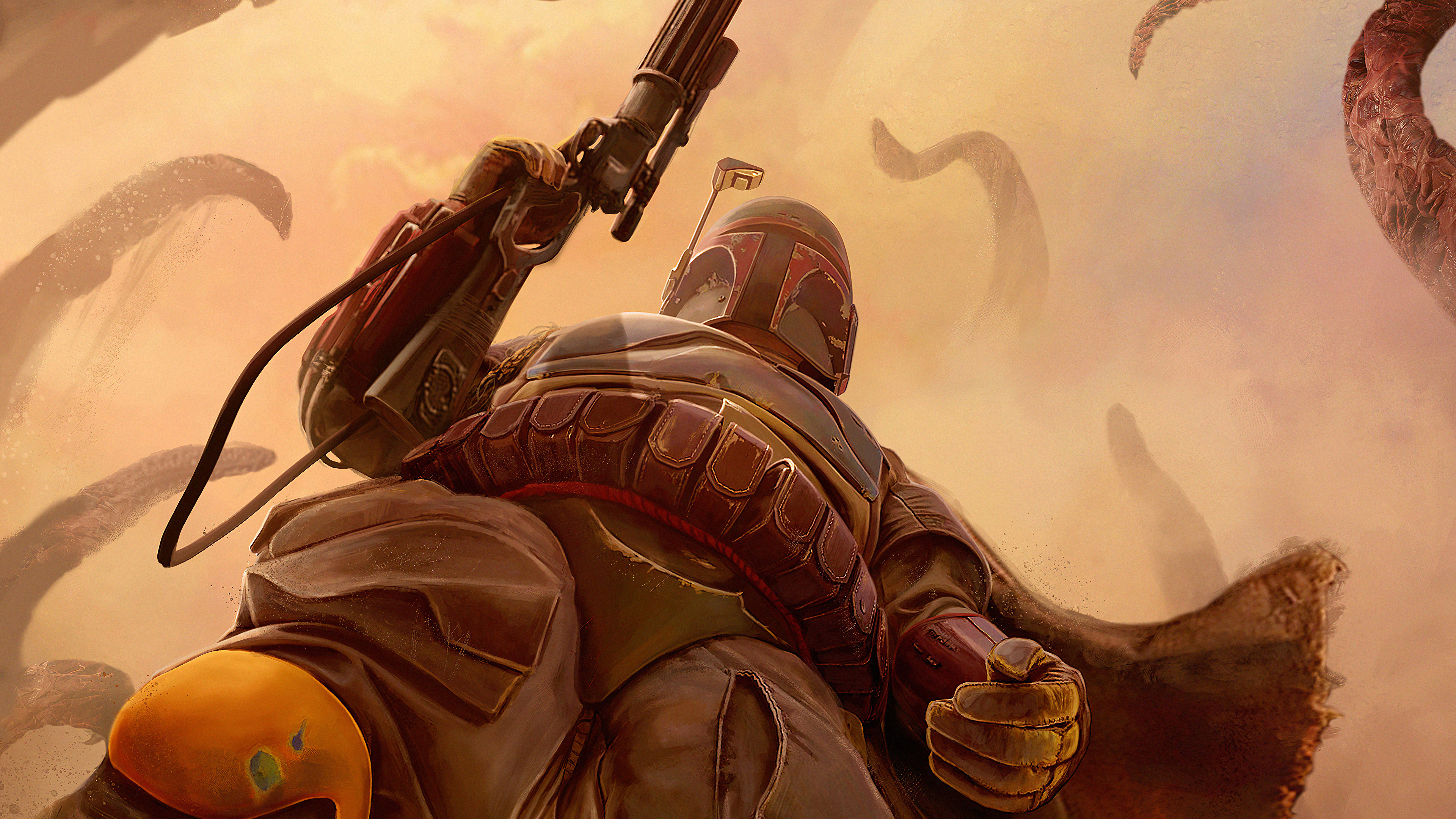 Wallpaper 4k The Mandalorian Art The Mandalorian 4k Wallpaper The Mandalorian Wallpaper