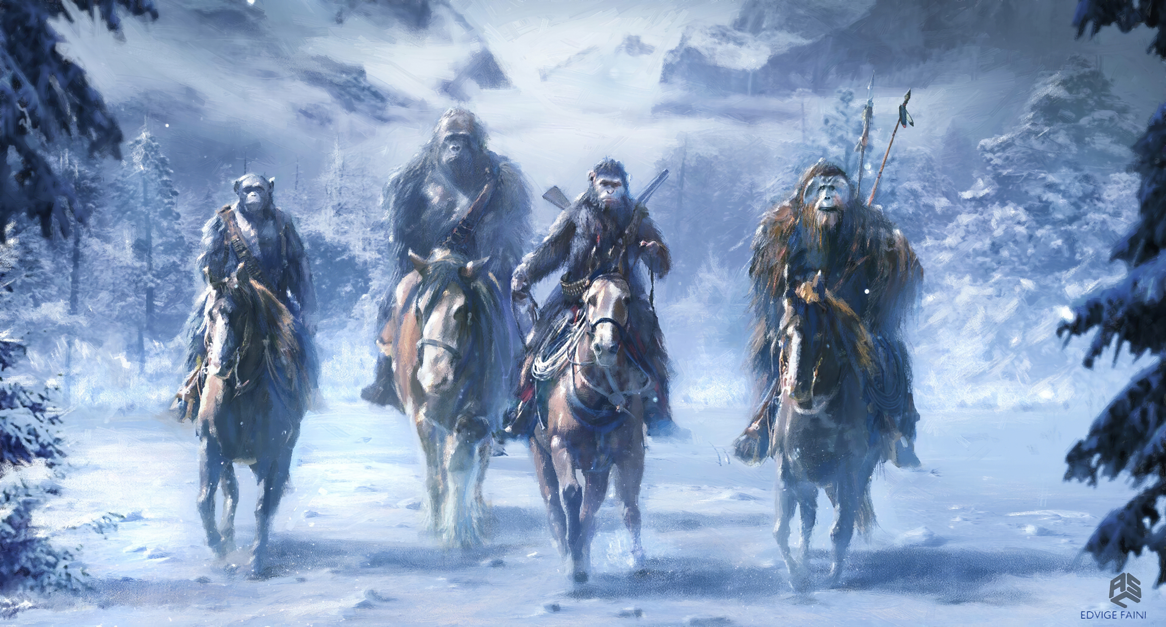 Wallpaper 4k War For The Planet Of The Apes Concept Art