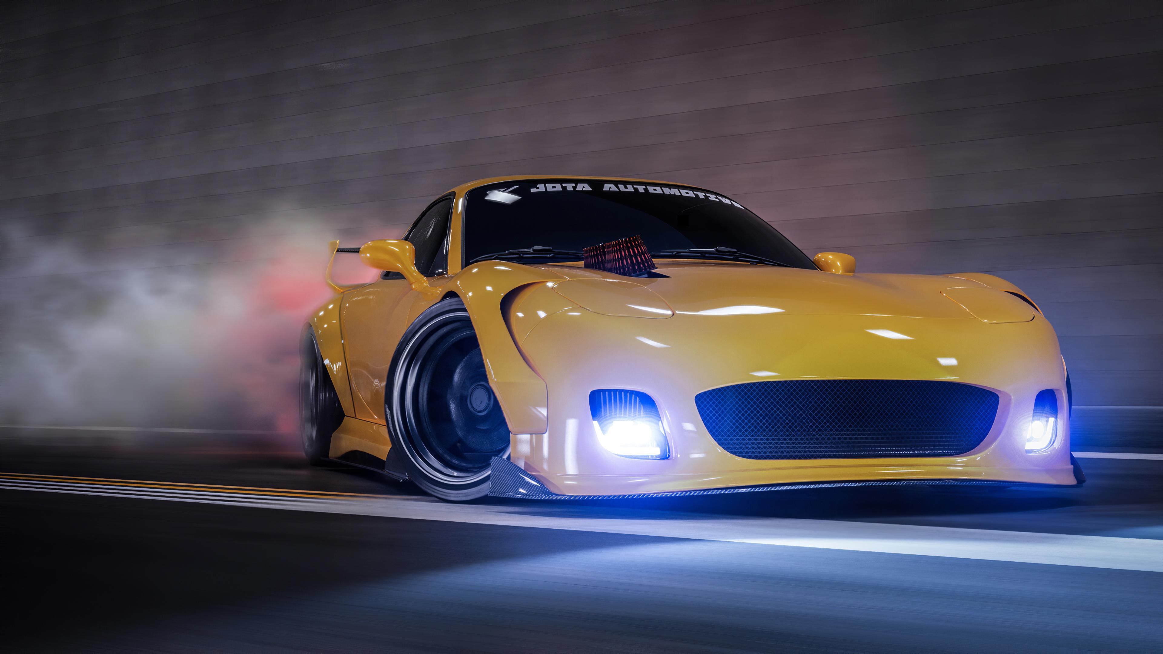 yellow mazda rx7 drifting 1579649252 - Yellow Mazda Rx7 Drifting -