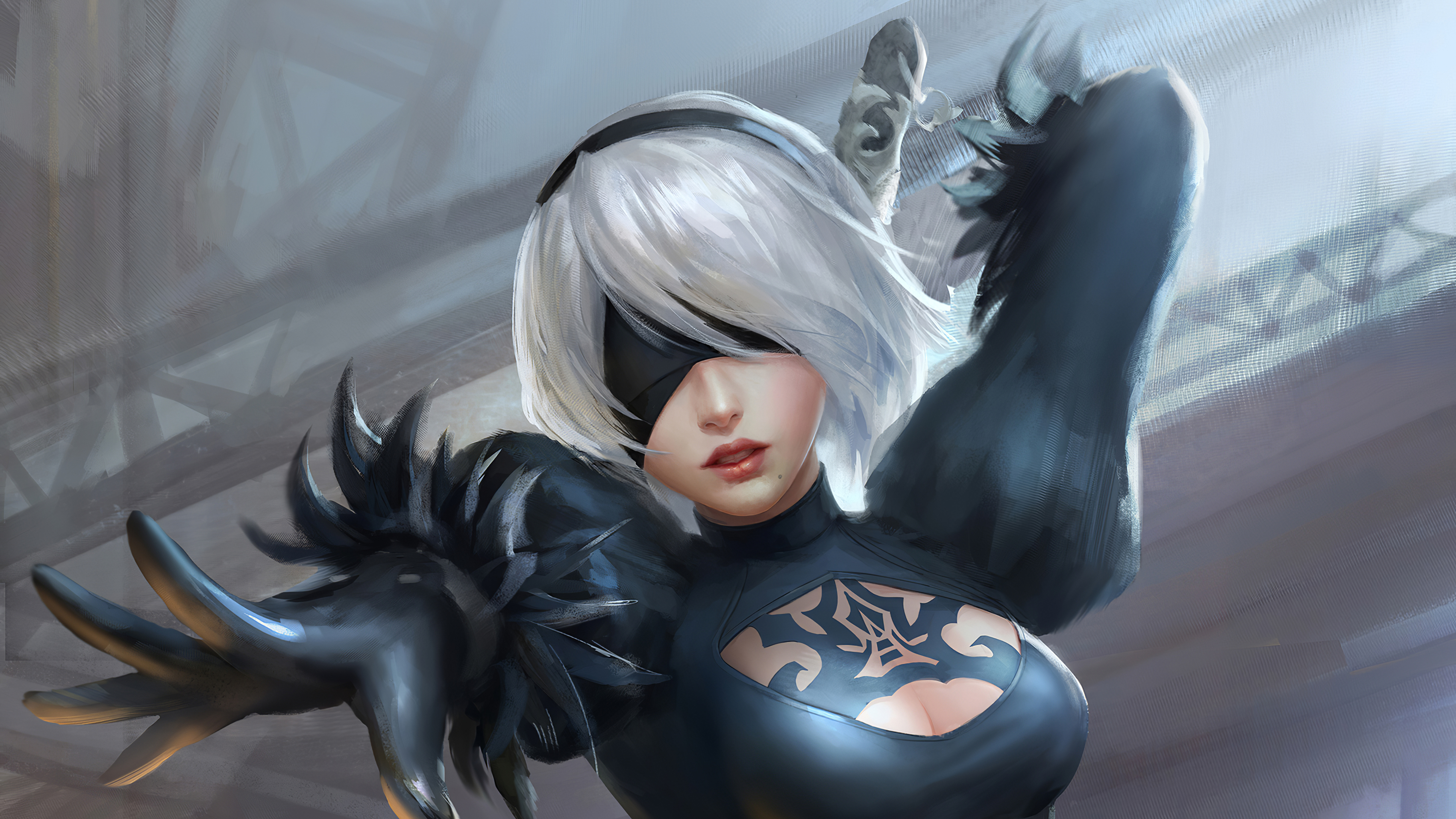 2b nier artwork 1581276081 - 2b Nier ArtWork - 2b Nier game wallpapers 4k, 2b Nier Art wallpapers, 2b Nier 4k wallpapers