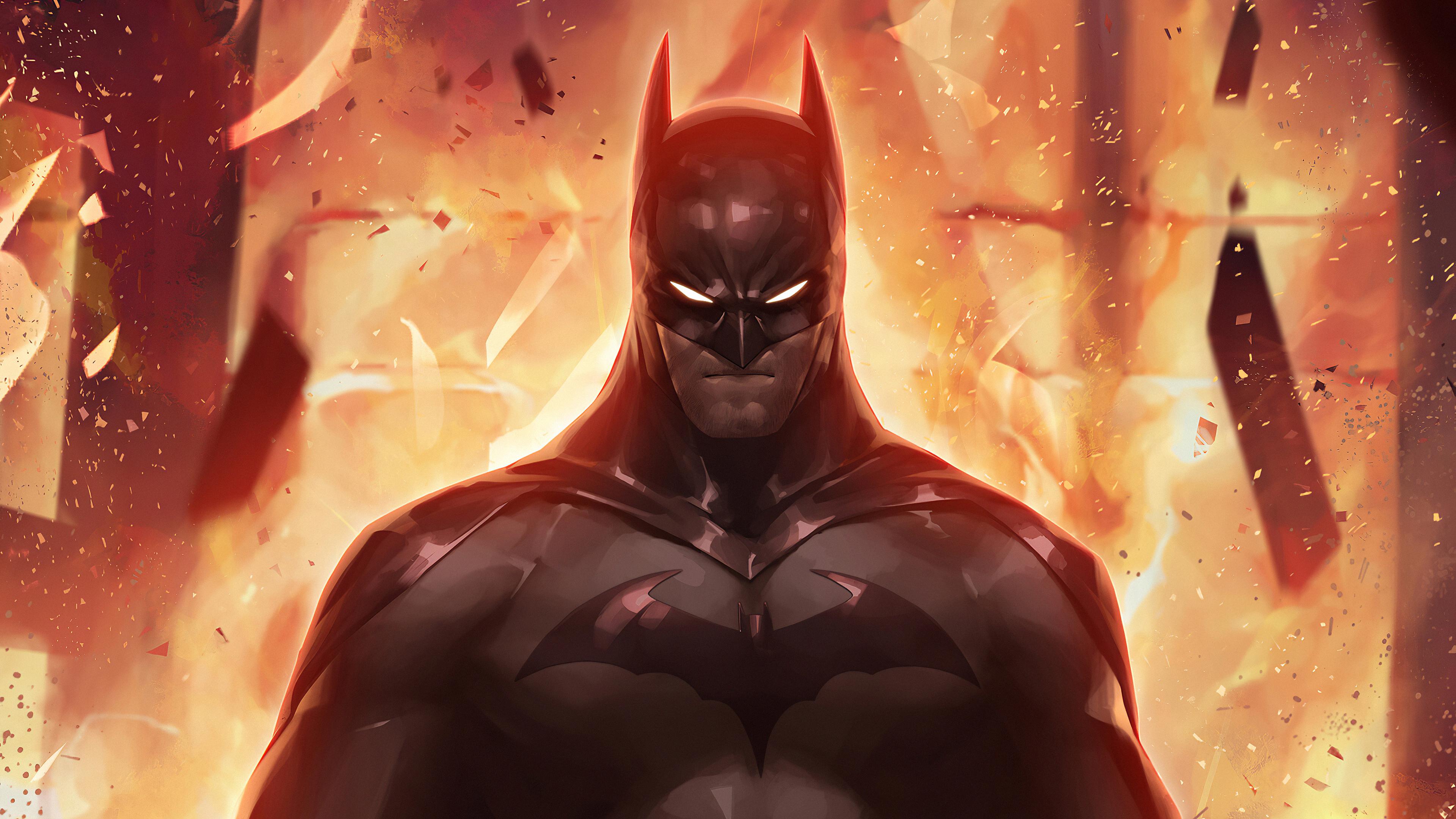 batman in fire 1580585015 - Batman In Fire - batman wallpapers 4k, batman wallpapers, Batman In Fire wallpapers