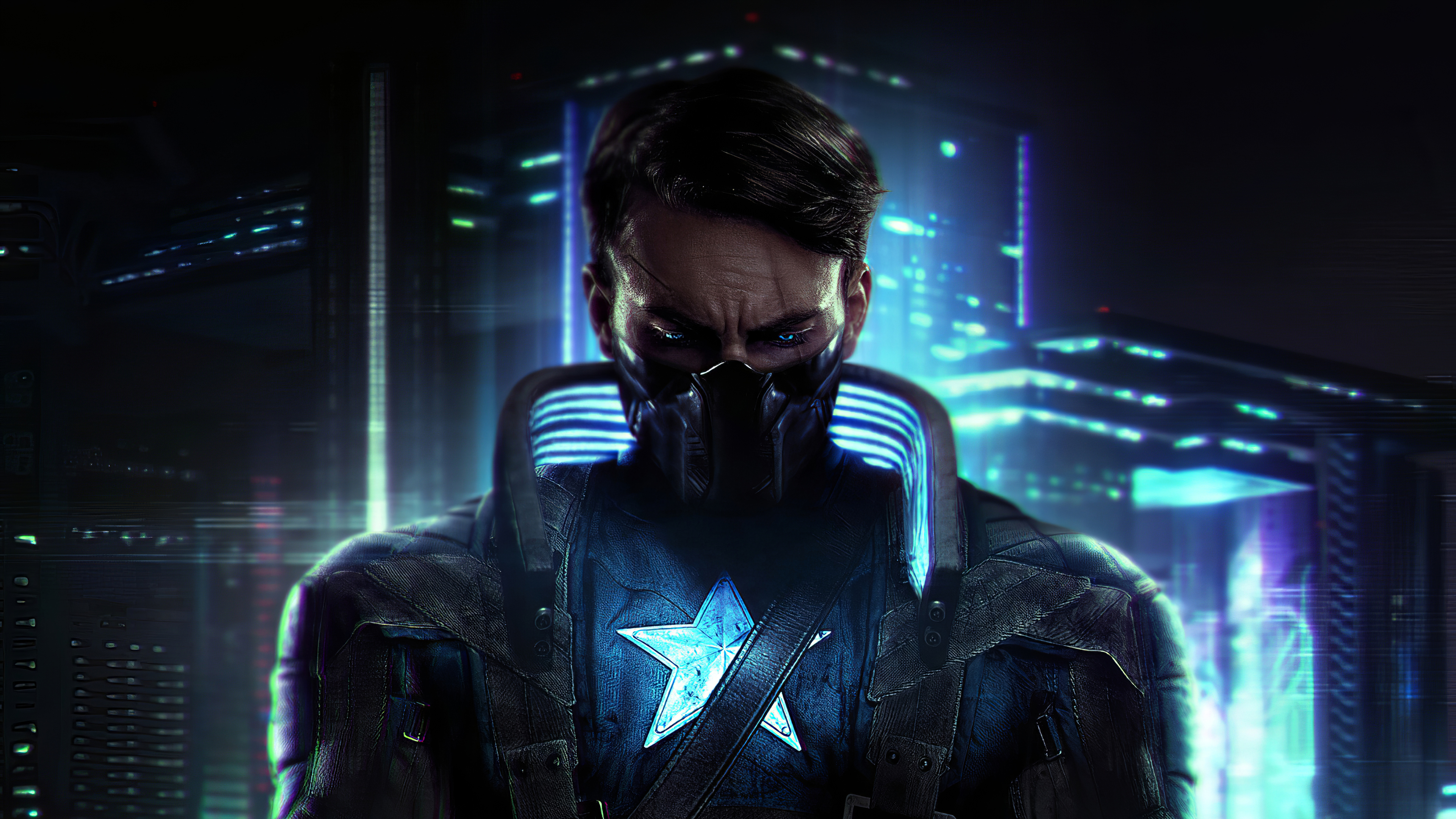 captain america cyberpunk 1581357409 - Captain America Cyberpunk - Captain America Cyberpunk wallpapers, Captain America Cyberpunk theme wallpapers 4k, Captain America Cyberpunk 4k wallpapers