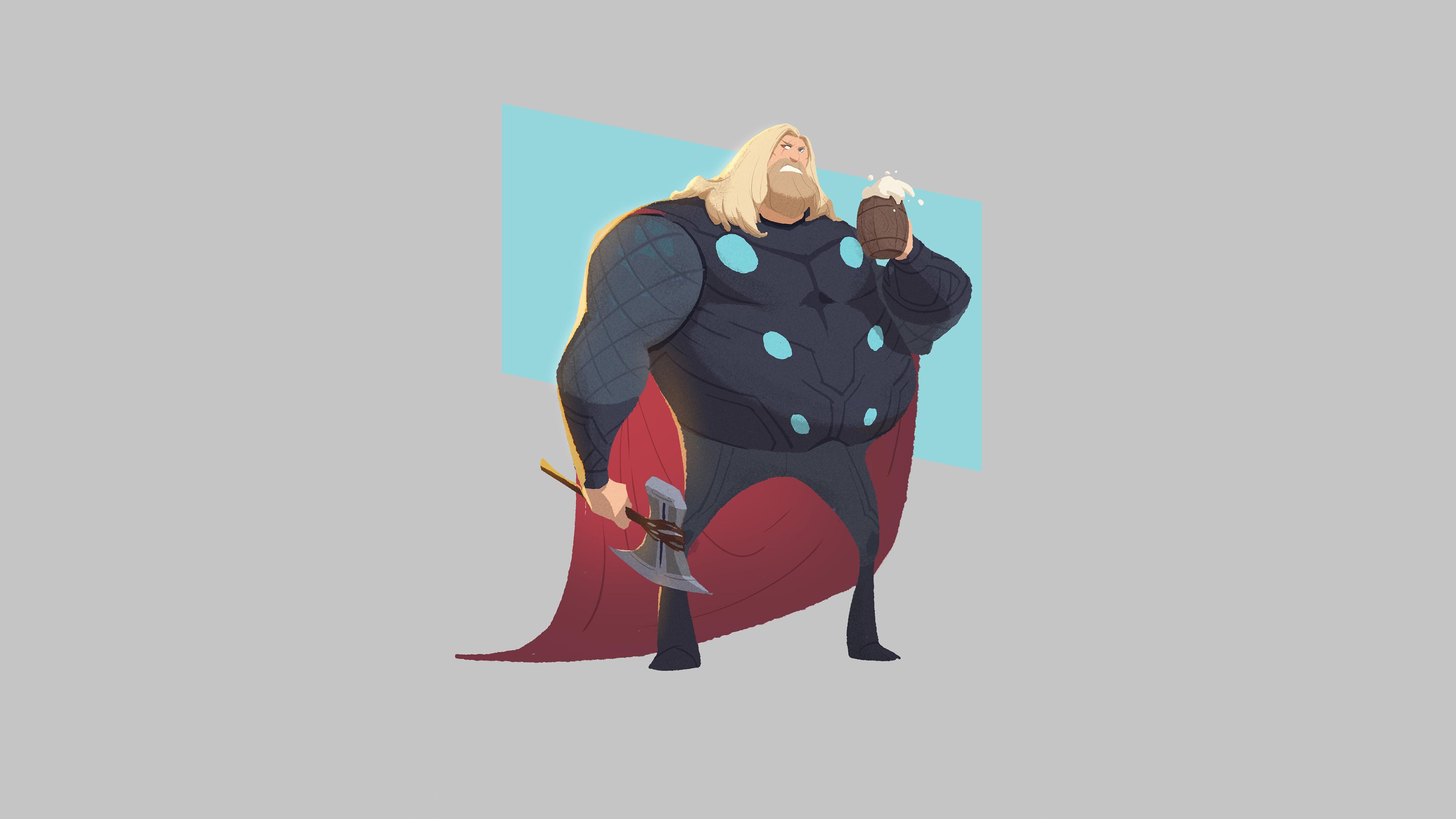fat thor minimal 1580585422 - Fat Thor Minimal - Fat Thor Minimal wallpapers, Fat Thor minimal phone wallpapers 4k, Fat Thor Minimal 4k wallpapers