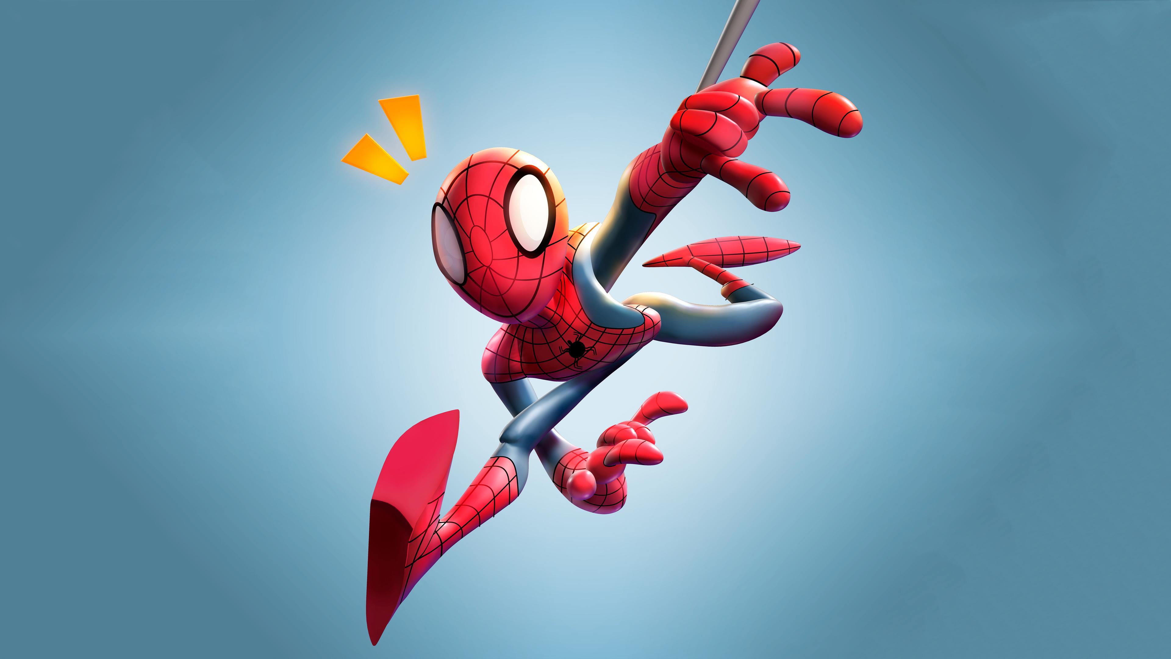 Wallpaper 4k Spiderman 3d Art Wallpaper