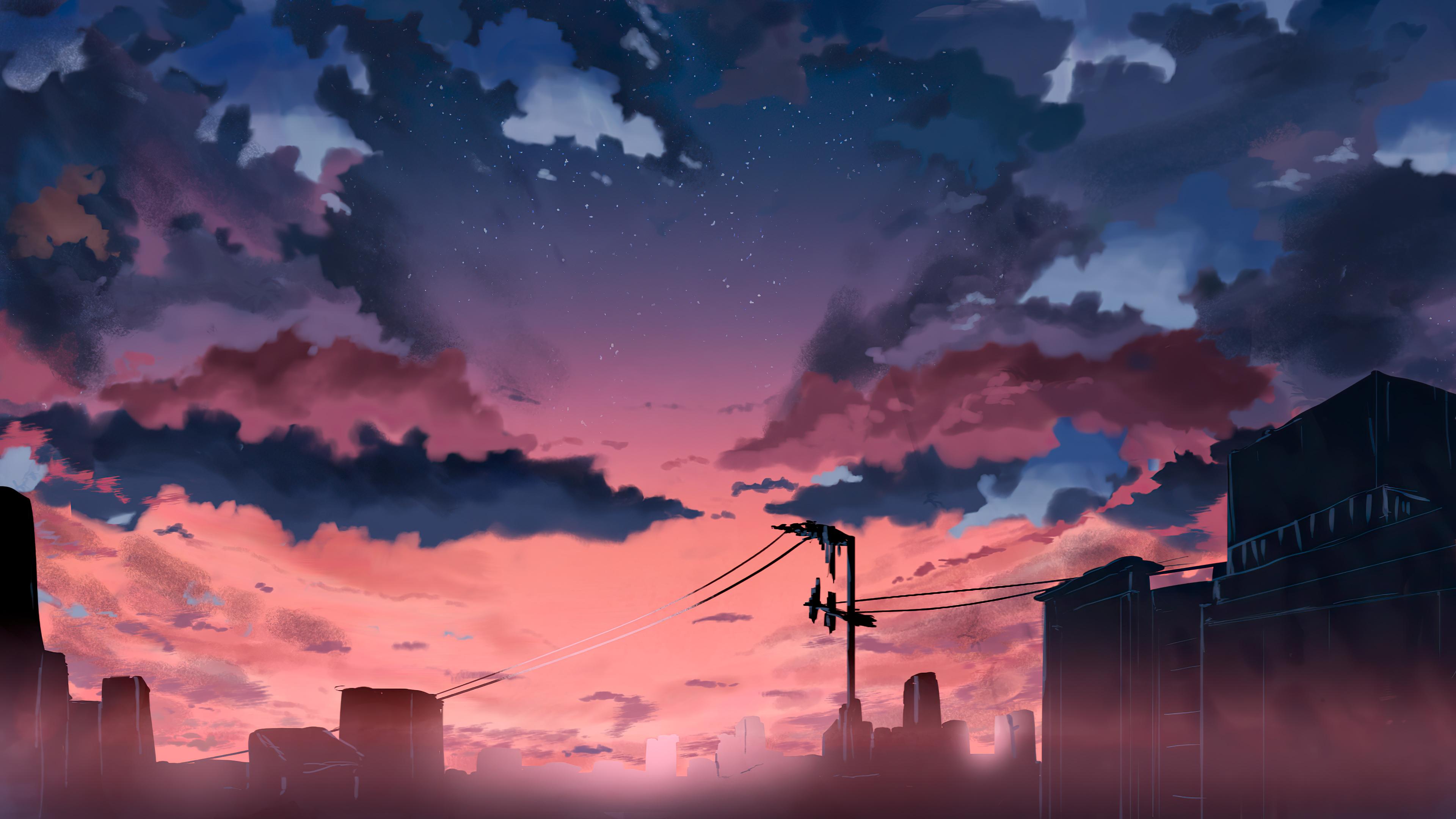 anime original cable lines 1596917238 - Anime Original Cable Lines - Anime Original Cable Lines wallpapers