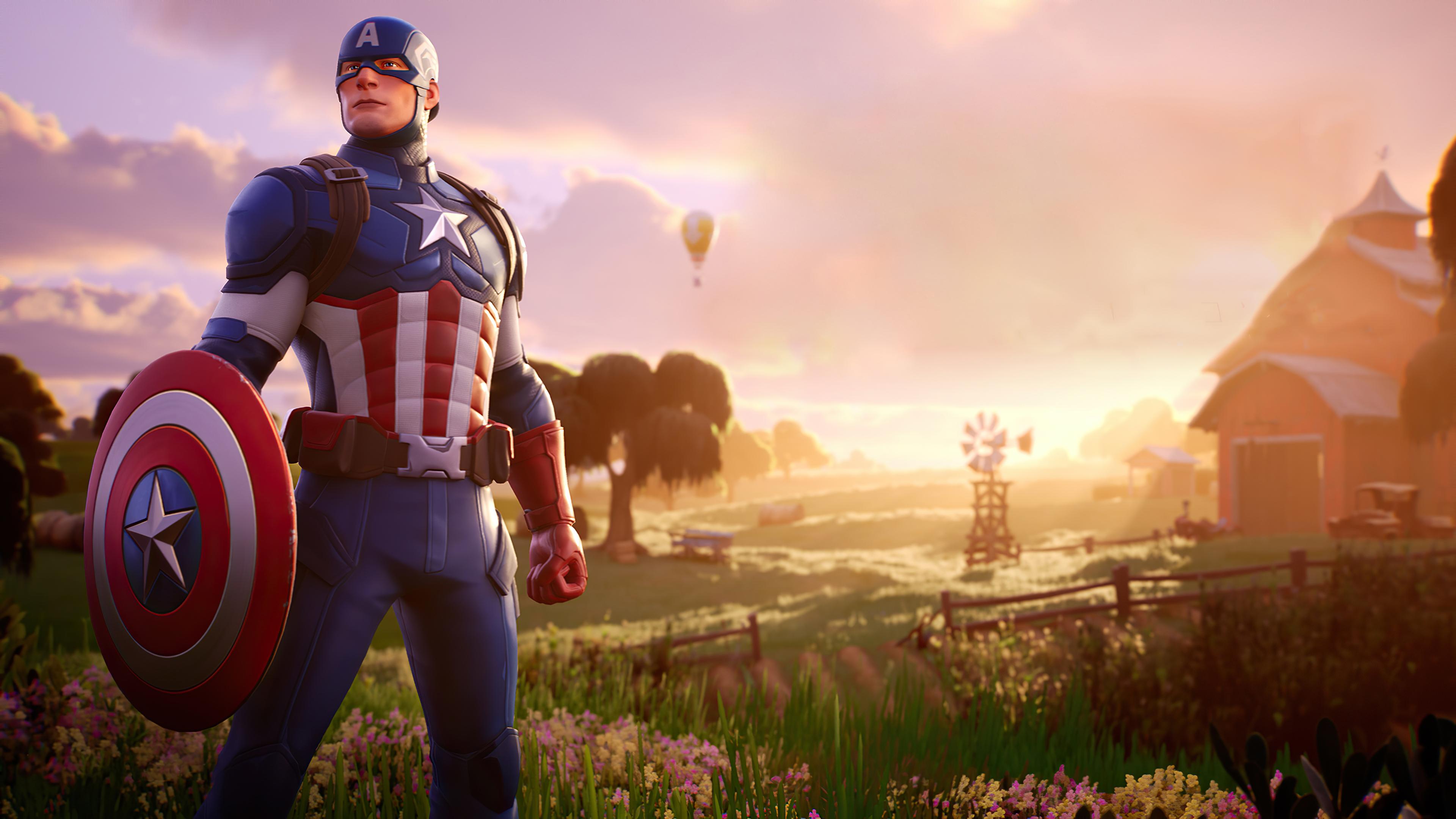 Wallpaper 4k Captain America Fortnite Captain America Fortnite 4k Wallpapers Captain America Fortnite Wallpapers