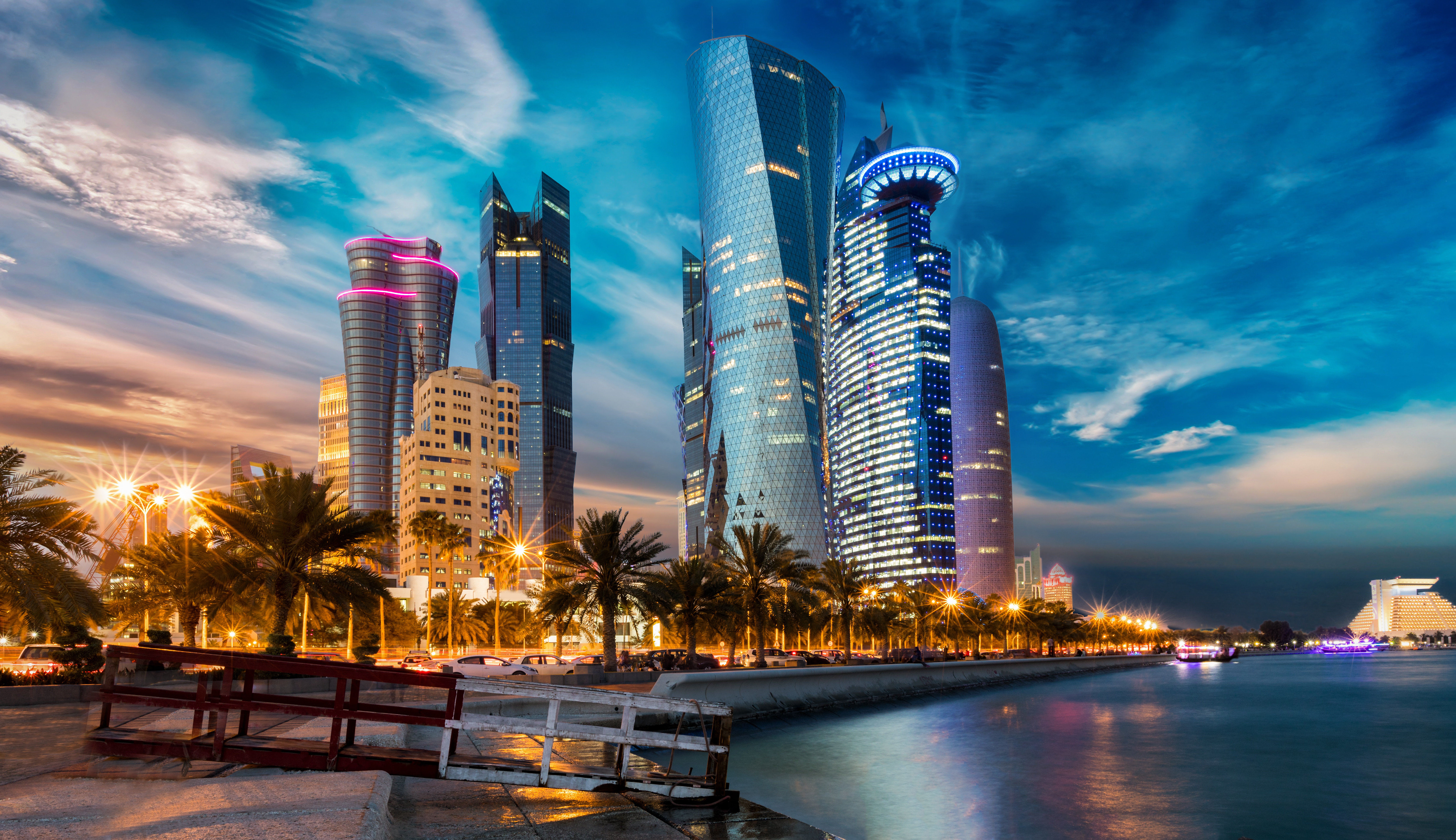 evening houses skyscrapers qatar 1596916623 - Evening Houses Skyscrapers Qatar - Evening Houses Skyscrapers Qatar wallpapers, Evening Houses Skyscrapers Qatar 4k wallpapers