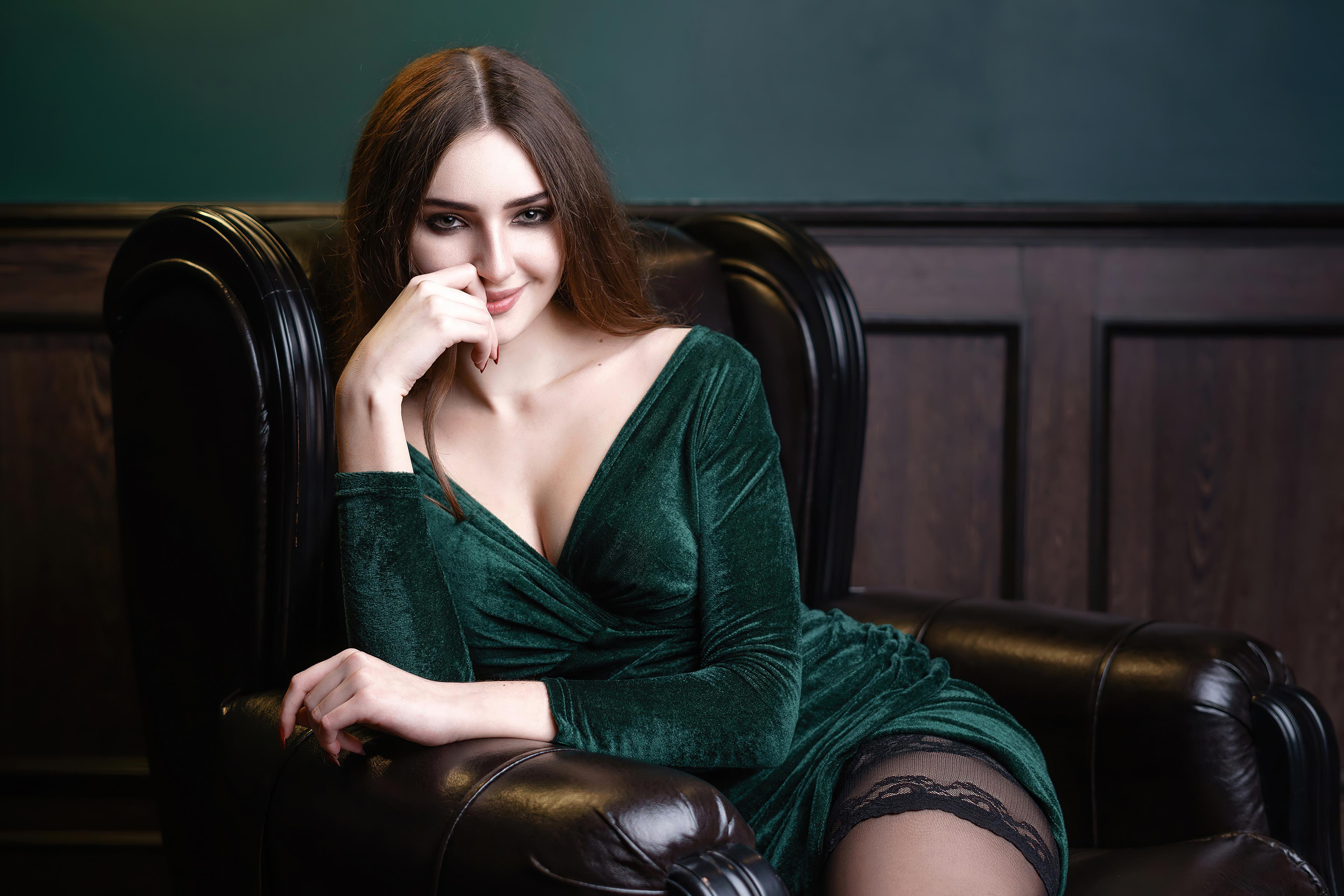 girl sitting arm on chair smiling 4k 1596916310 - Girl Sitting Arm On Chair Smiling 4k -