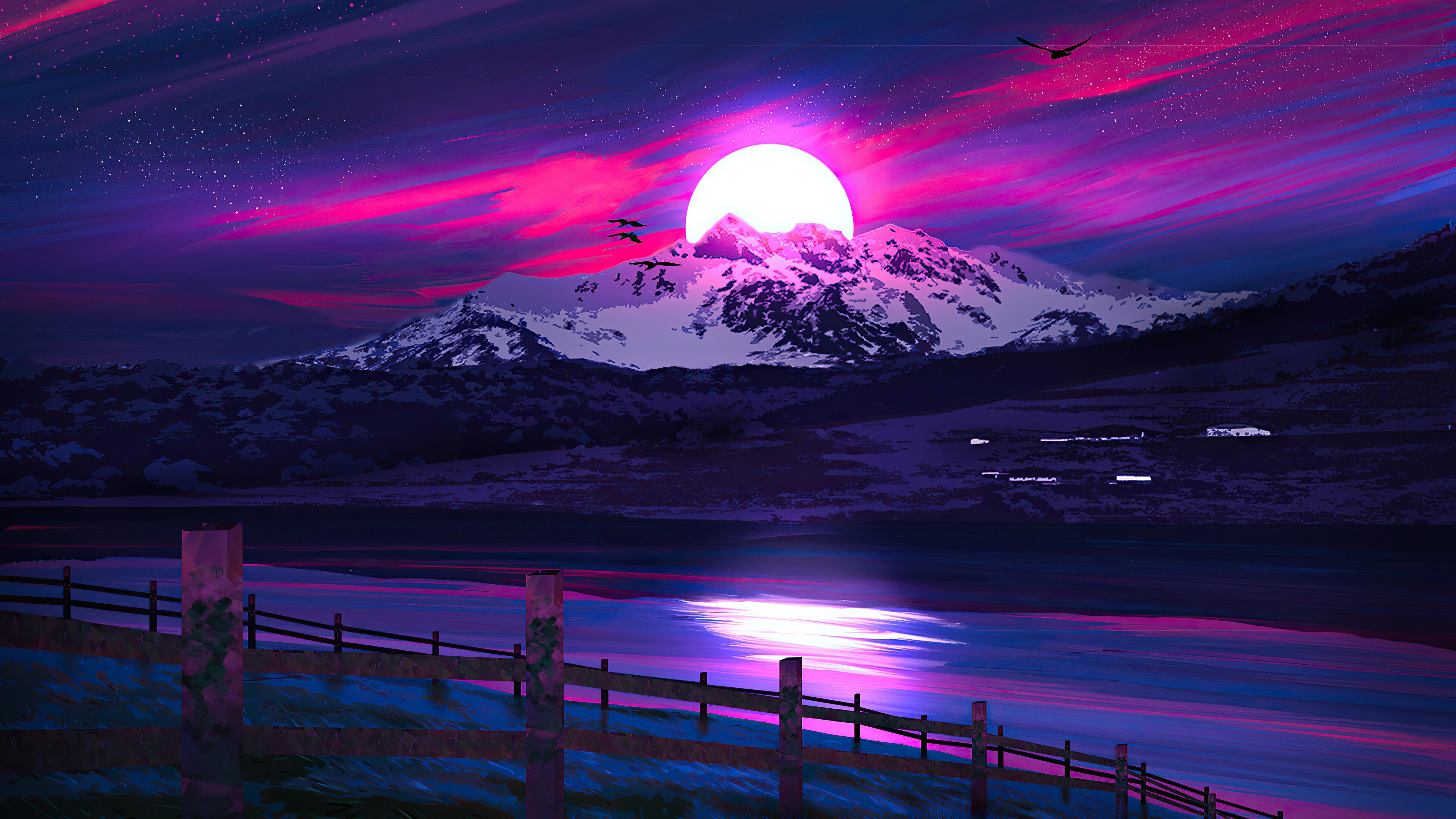 Minimal Landscape Sunrise