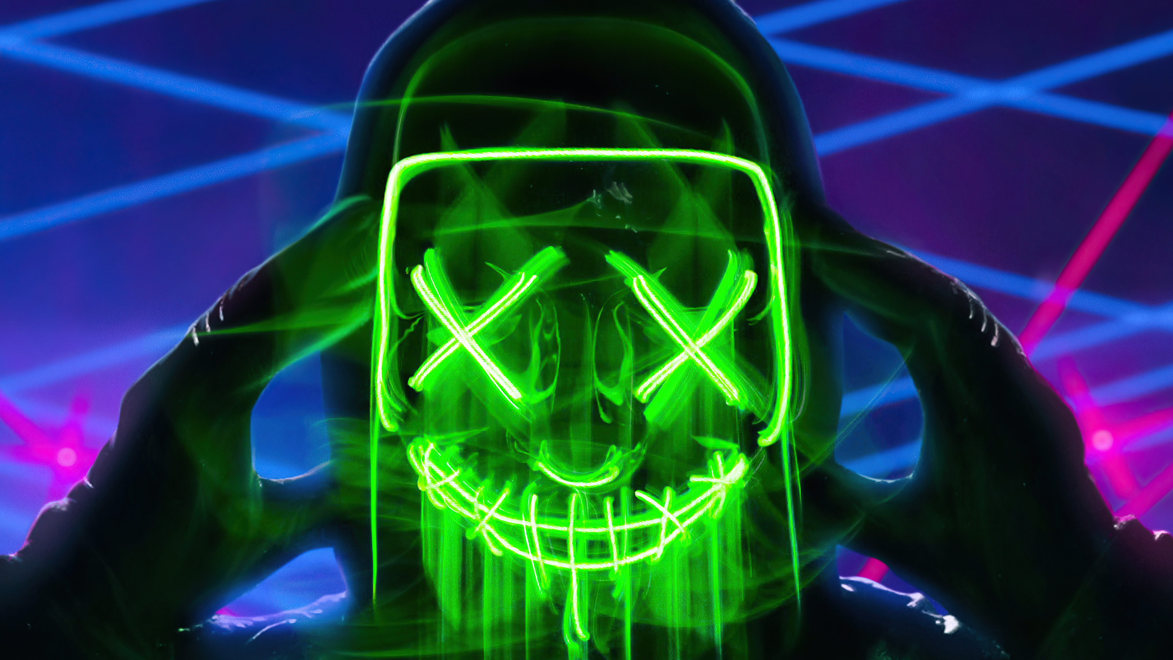Neon Green Mask Triangle Guy