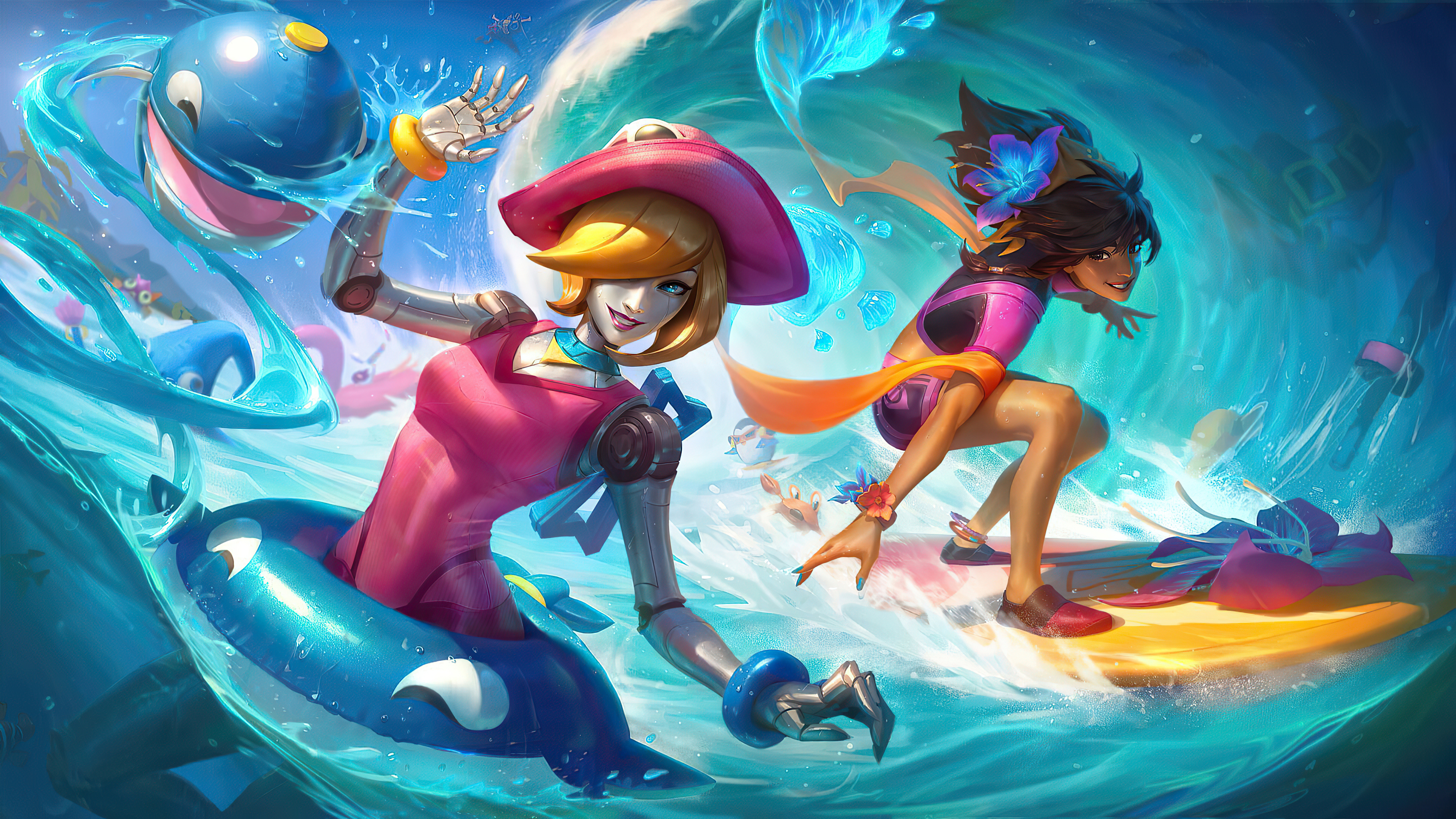 pool party orianna and taliyah 4k 1598657314 - Pool Party Orianna And Taliyah 4k - Pool Party Orianna And Taliyah wallpapers, Pool Party Orianna 4k wallpapers