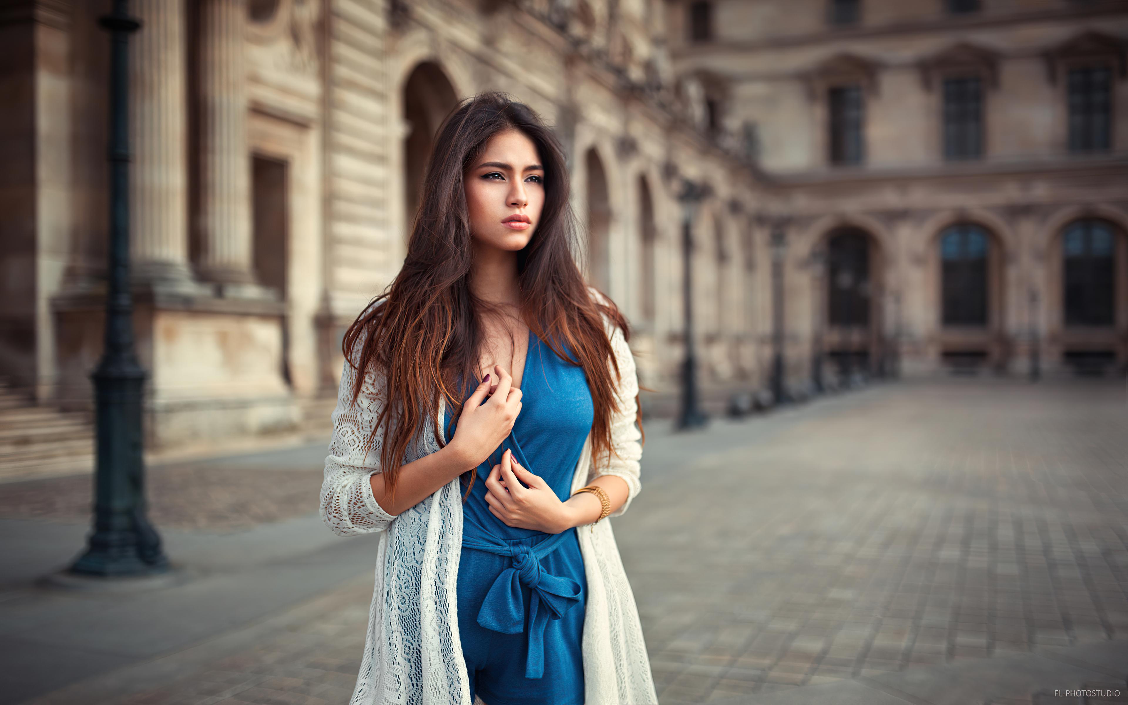 women looking away blue dress 4k 1596916333 - Women Looking Away Blue Dress 4k -