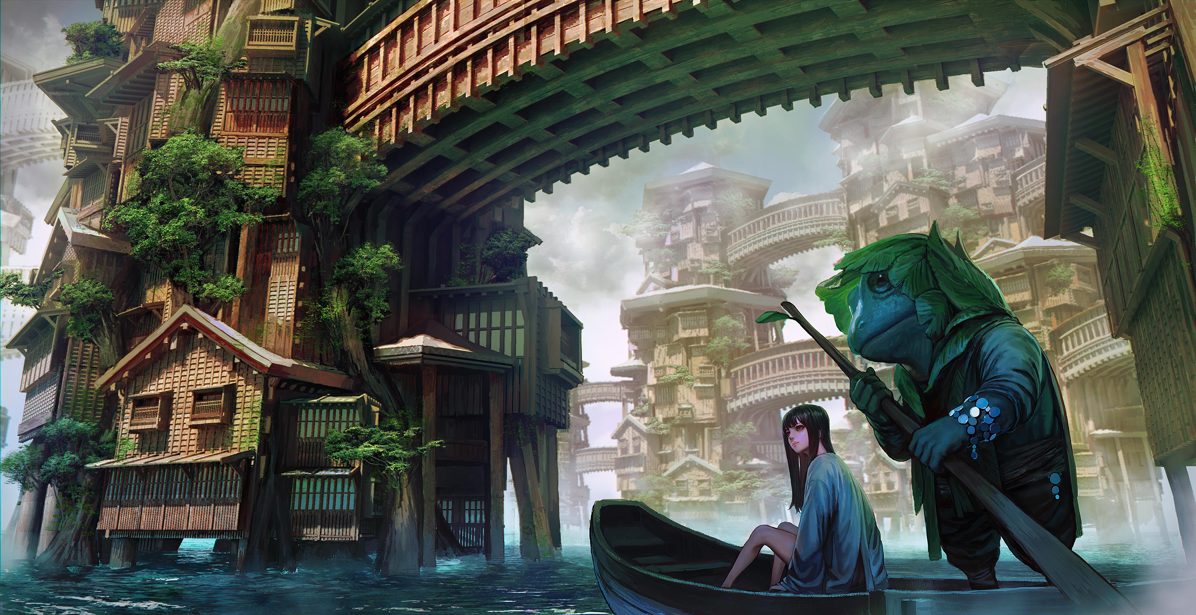 anime girl boat travelling dreamy world 4k 1602437882 - Anime Girl Boat Travelling Dreamy World 4k - Anime Girl Boat Travelling Dreamy World 4k wallpapers