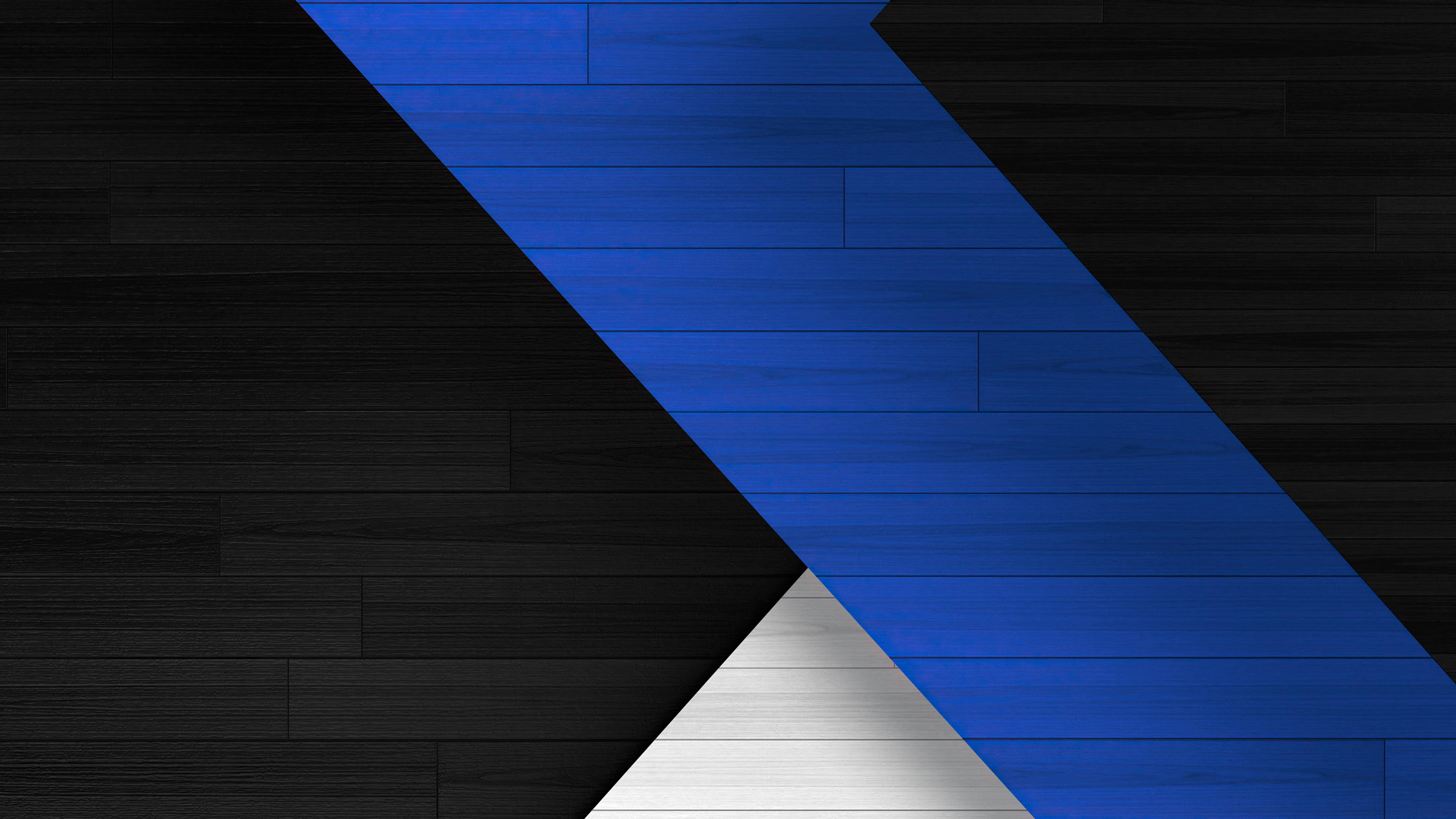 Blue Black White Abstract Tiles 4k Blue Black White ...