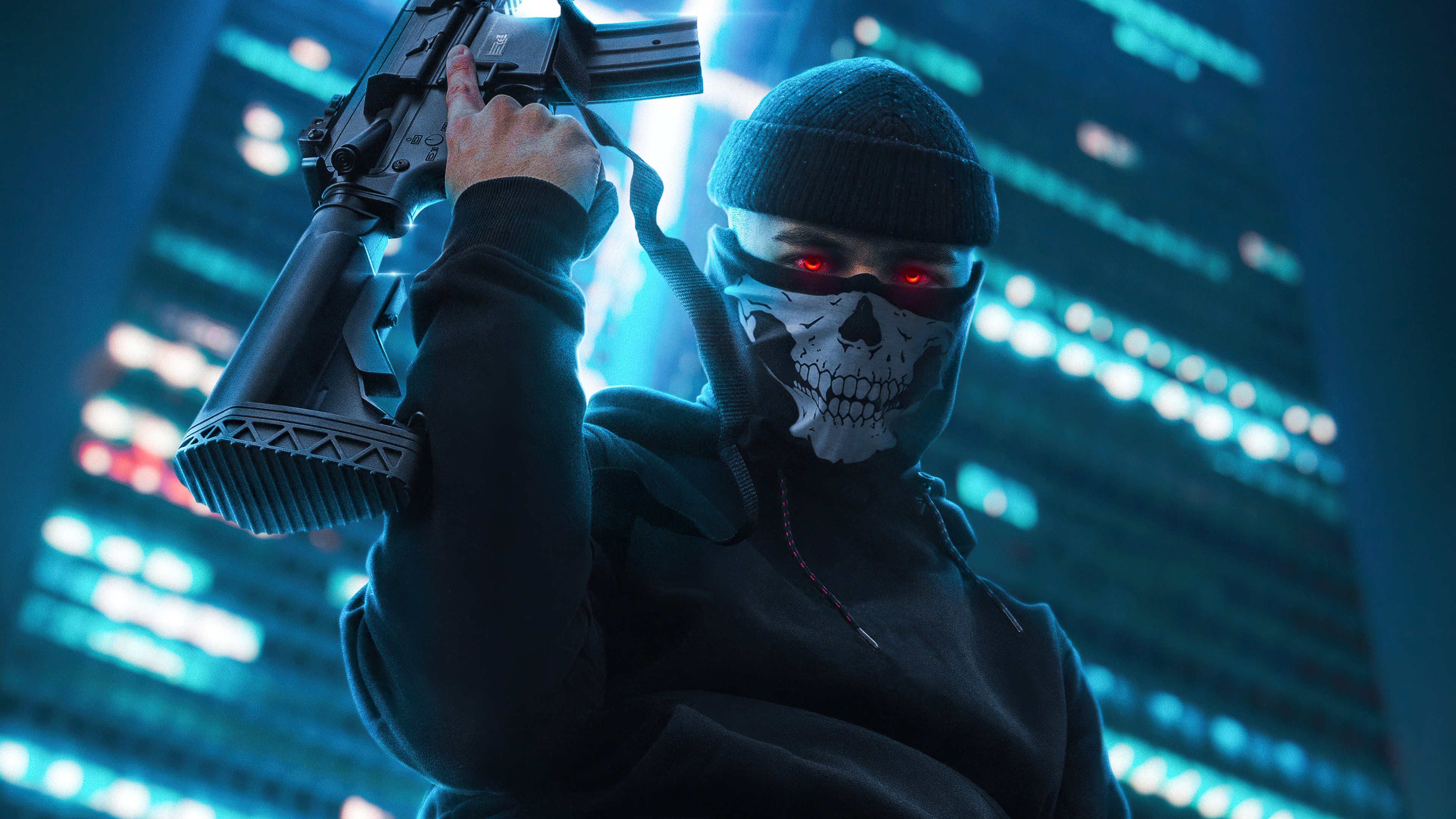 boy with skull mask and ak47 4k 1603398352 - Boy With Skull Mask And Ak47 4k - Boy With Skull Mask And Ak47 4k wallpapers