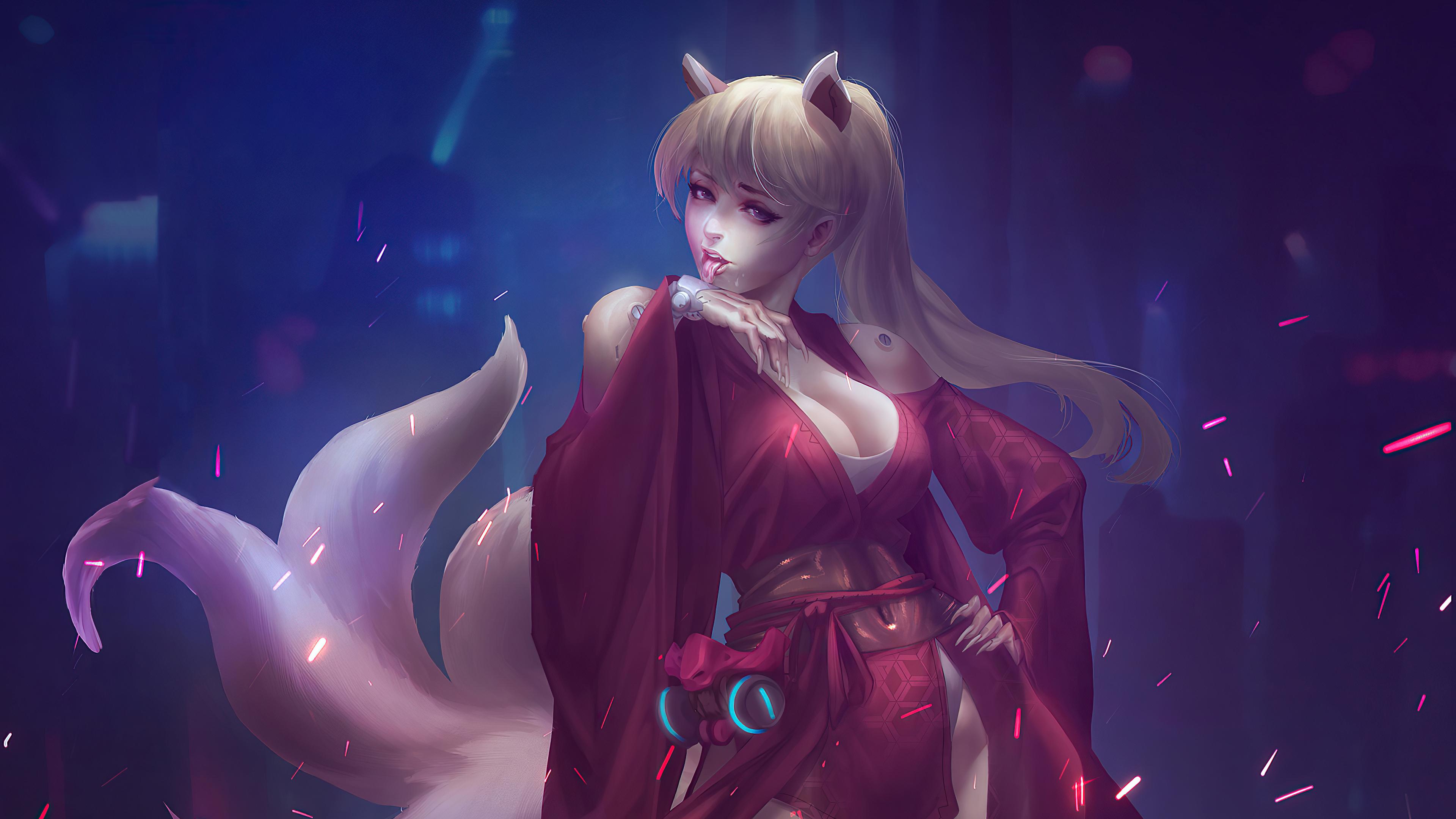 cyber cat girl 4k 1602533019 - Cyber Cat Girl 4k - Cyber Cat Girl 4k wallpapers