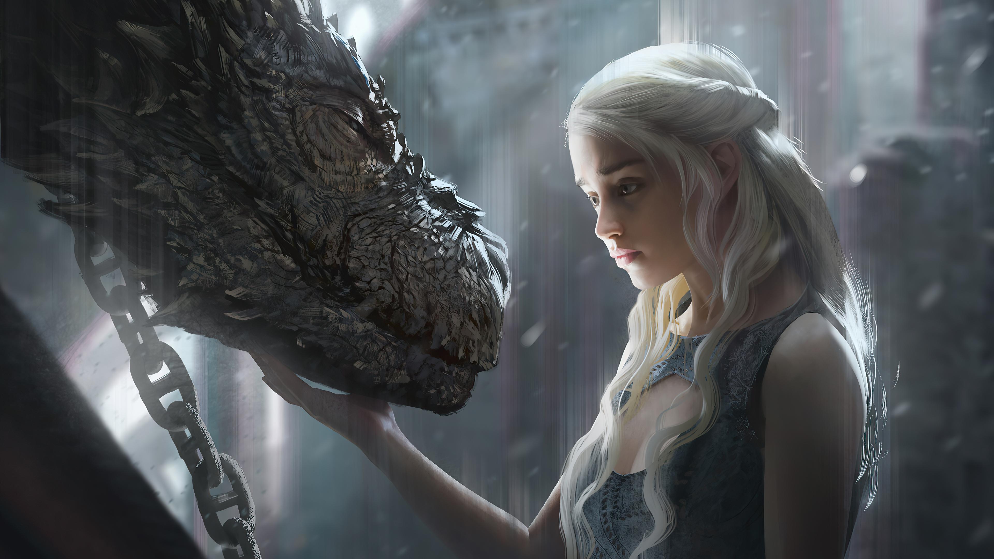 dragon and daenerys targayen 4k 1602452335 - Dragon And Daenerys Targayen 4k - Dragon And Daenerys Targayen 4k wallpapers
