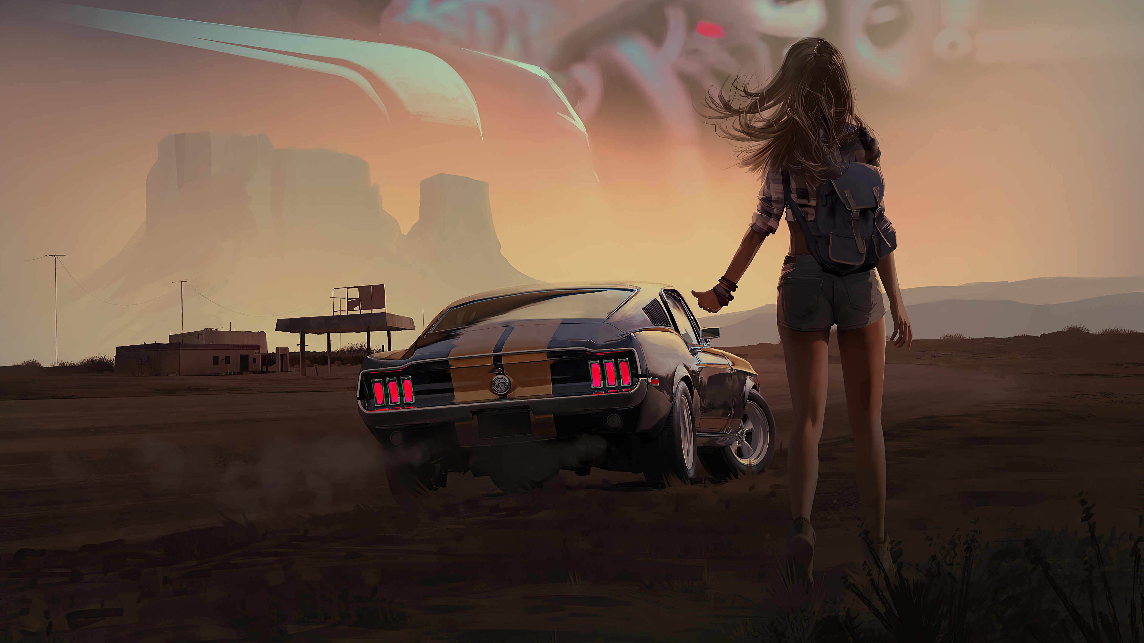girl with mustang 4k 1602436663 - Girl With Mustang 4k - Girl With Mustang 4k wallpapers