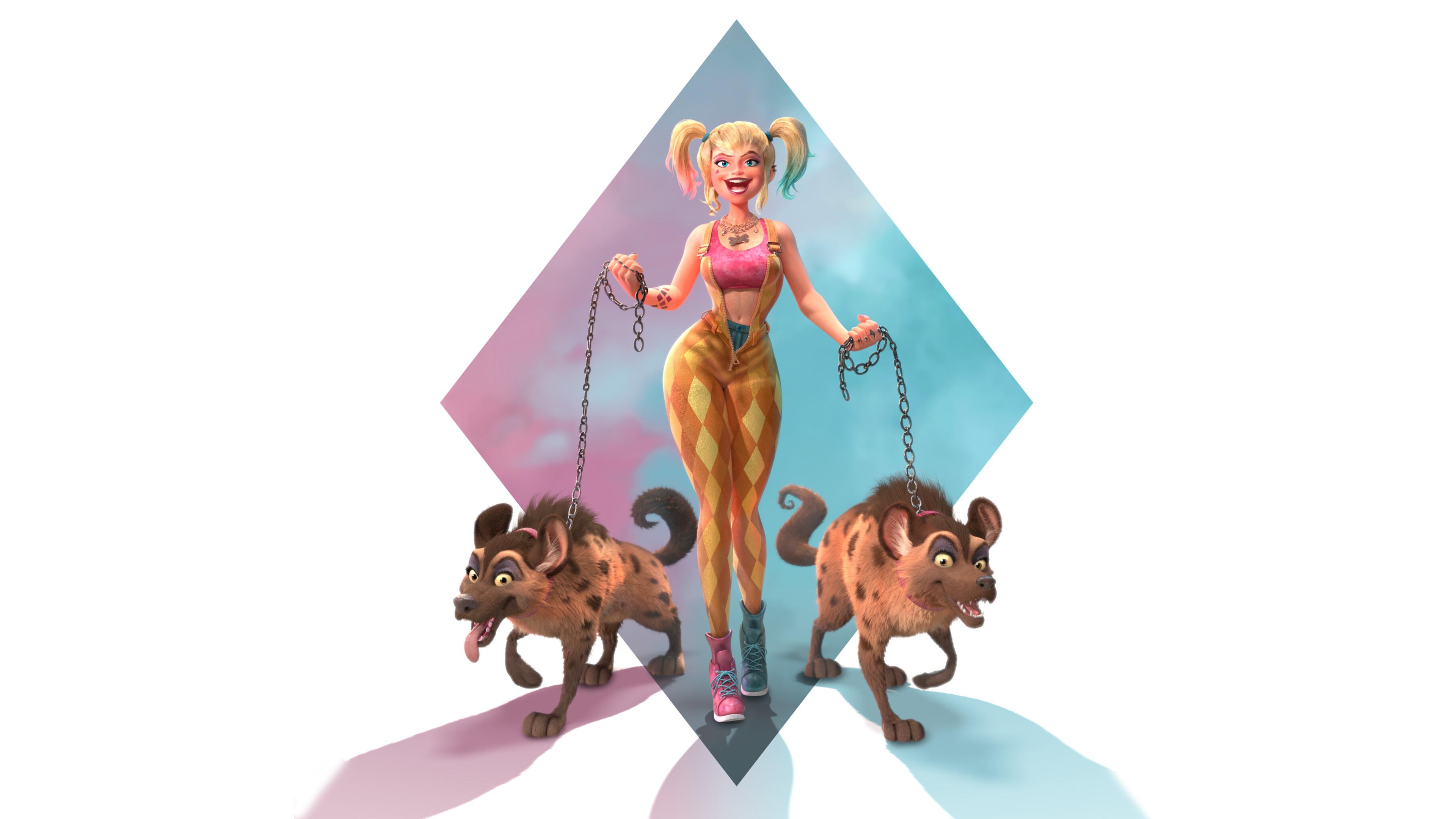 harley quinn with hyenas 4k 1602419840 - Harley Quinn With Hyenas 4k - Harley Quinn With Hyenas 4k wallpapers
