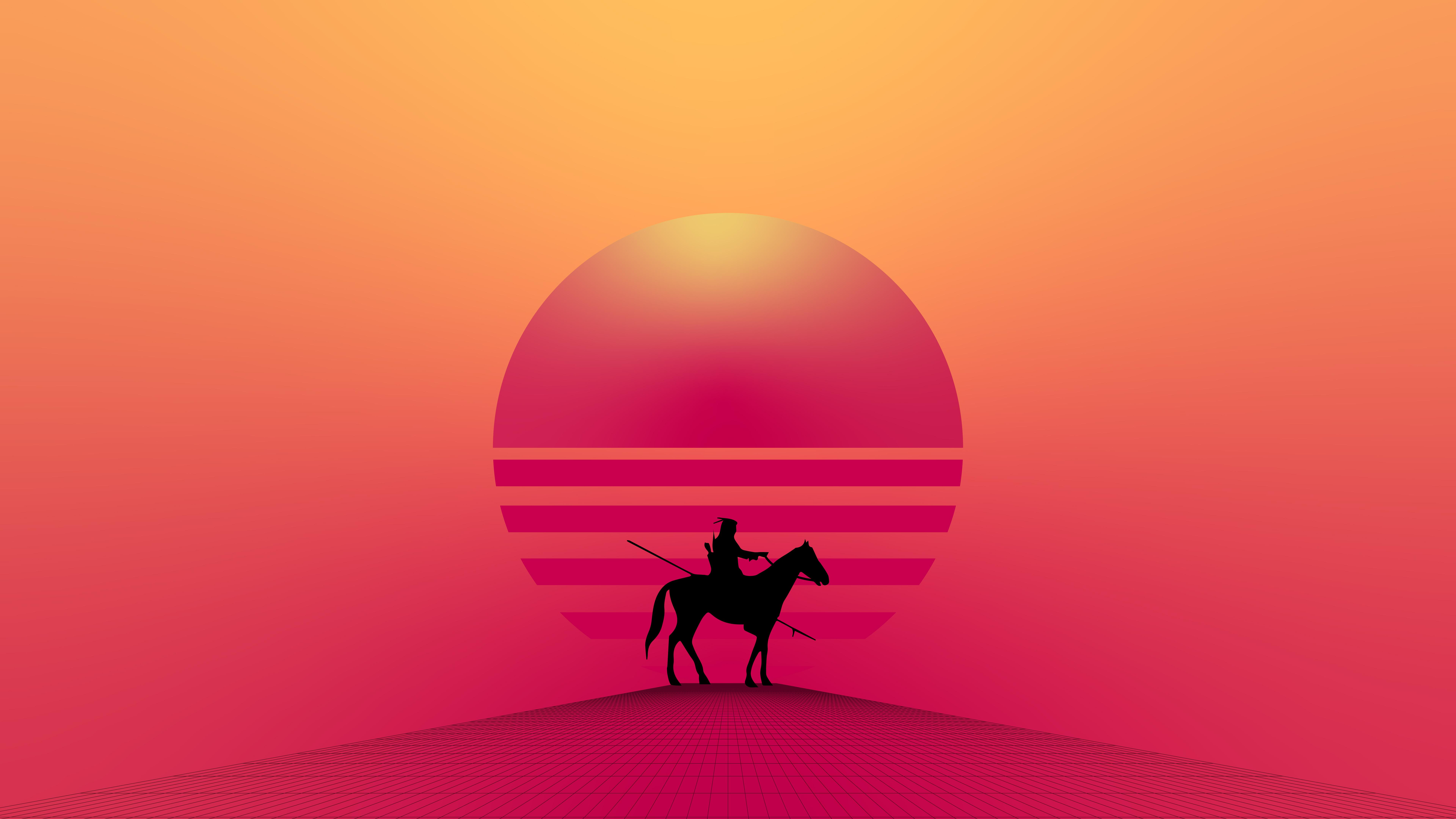 horse warrior minimal 4k 1603398265 - Horse Warrior Minimal 4k - Horse Warrior Minimal 4k wallpapers