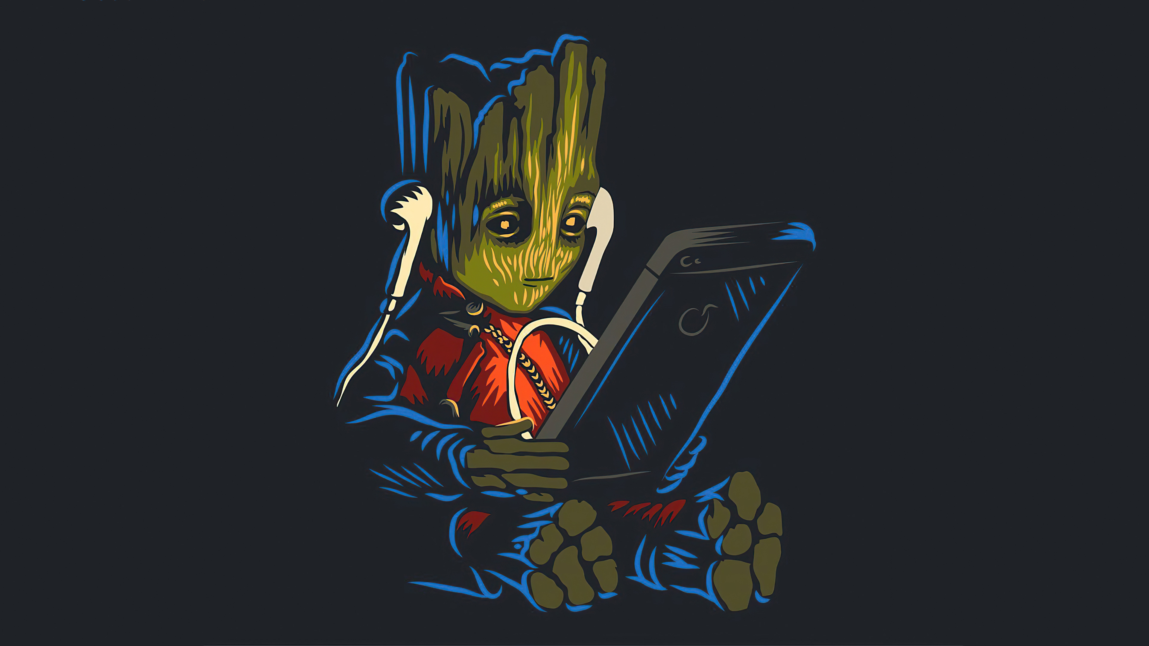 baby groot listening to music while using phone 4k 1604347899 - Baby Groot Listening To Music While Using Phone 4k - Baby Groot Listening To Music While Using Phone 4k wallpapers