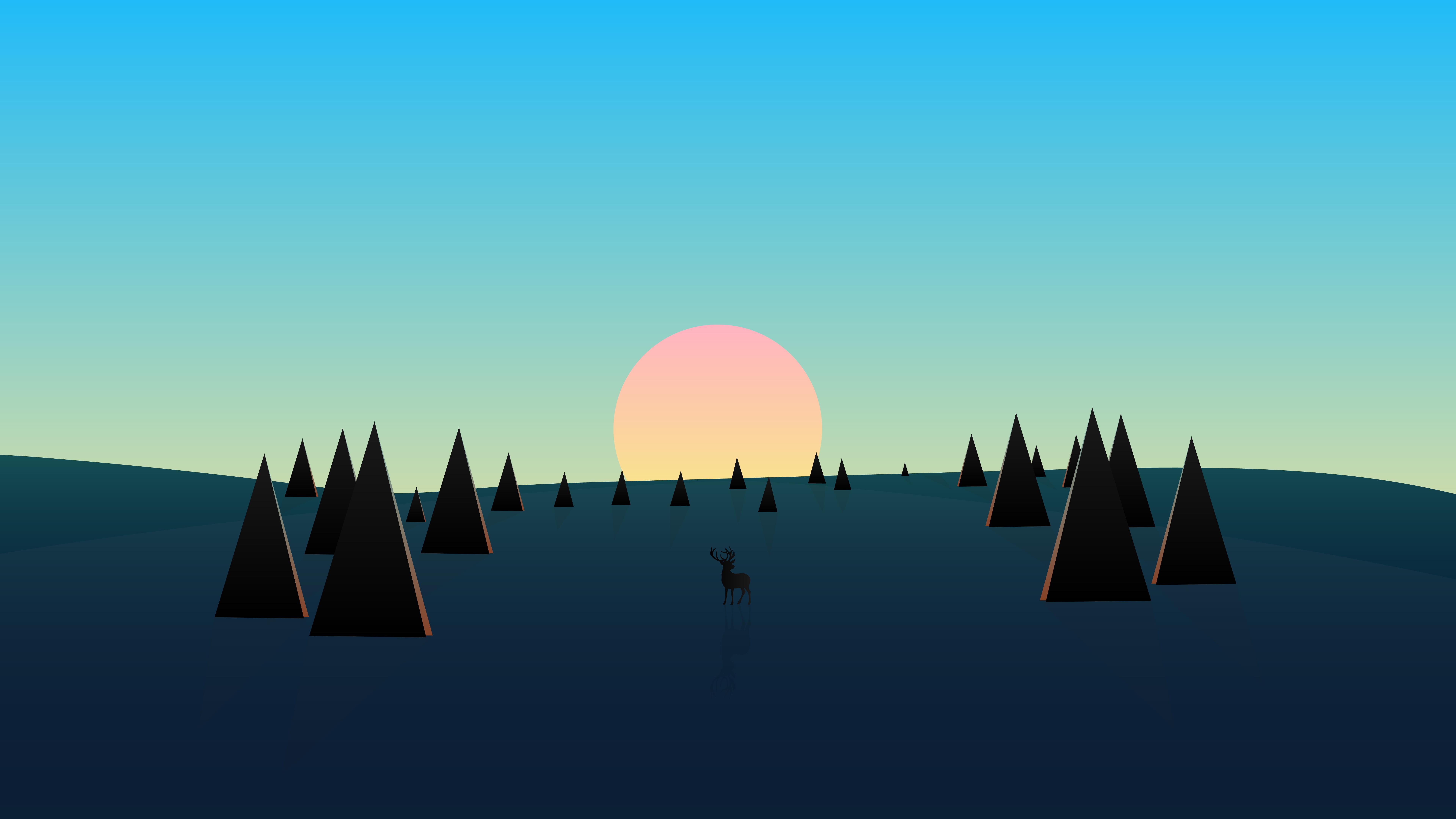 beautiful day sunset deer minimal 4k 1608658609 - Beautiful Day Sunset Deer Minimal 4k - Beautiful Day Sunset Deer Minimal 4k wallpapers