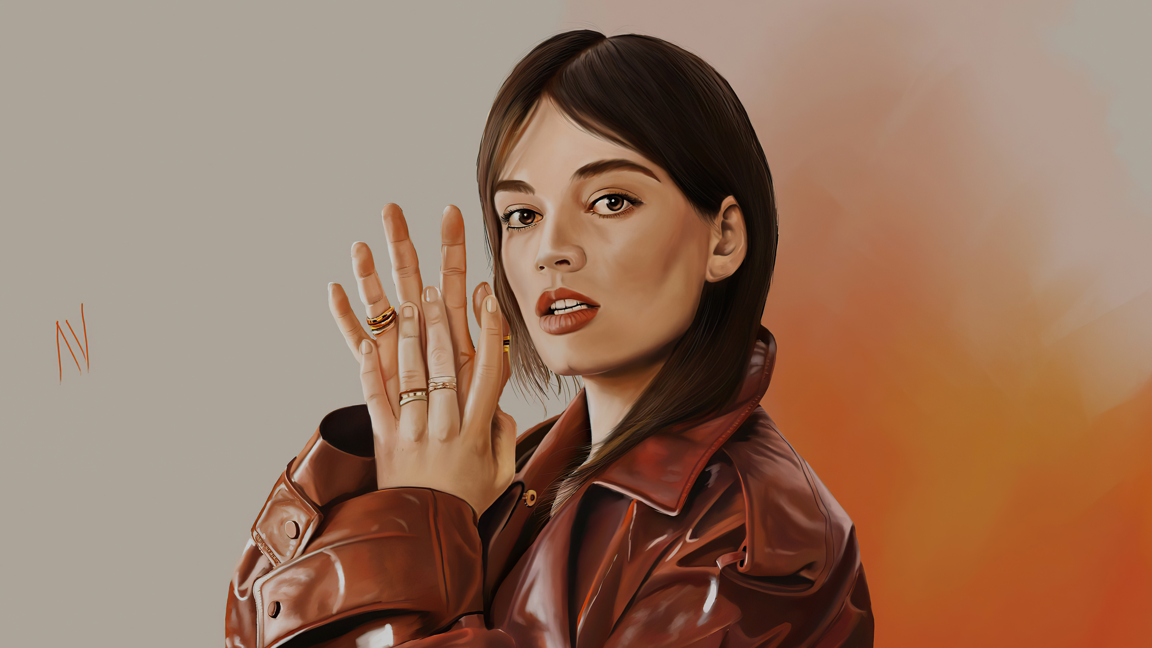 emma mackey paint art 4k 1608623858 - Emma Mackey Paint Art 4k - Emma Mackey Paint Art 4k wallpapers
