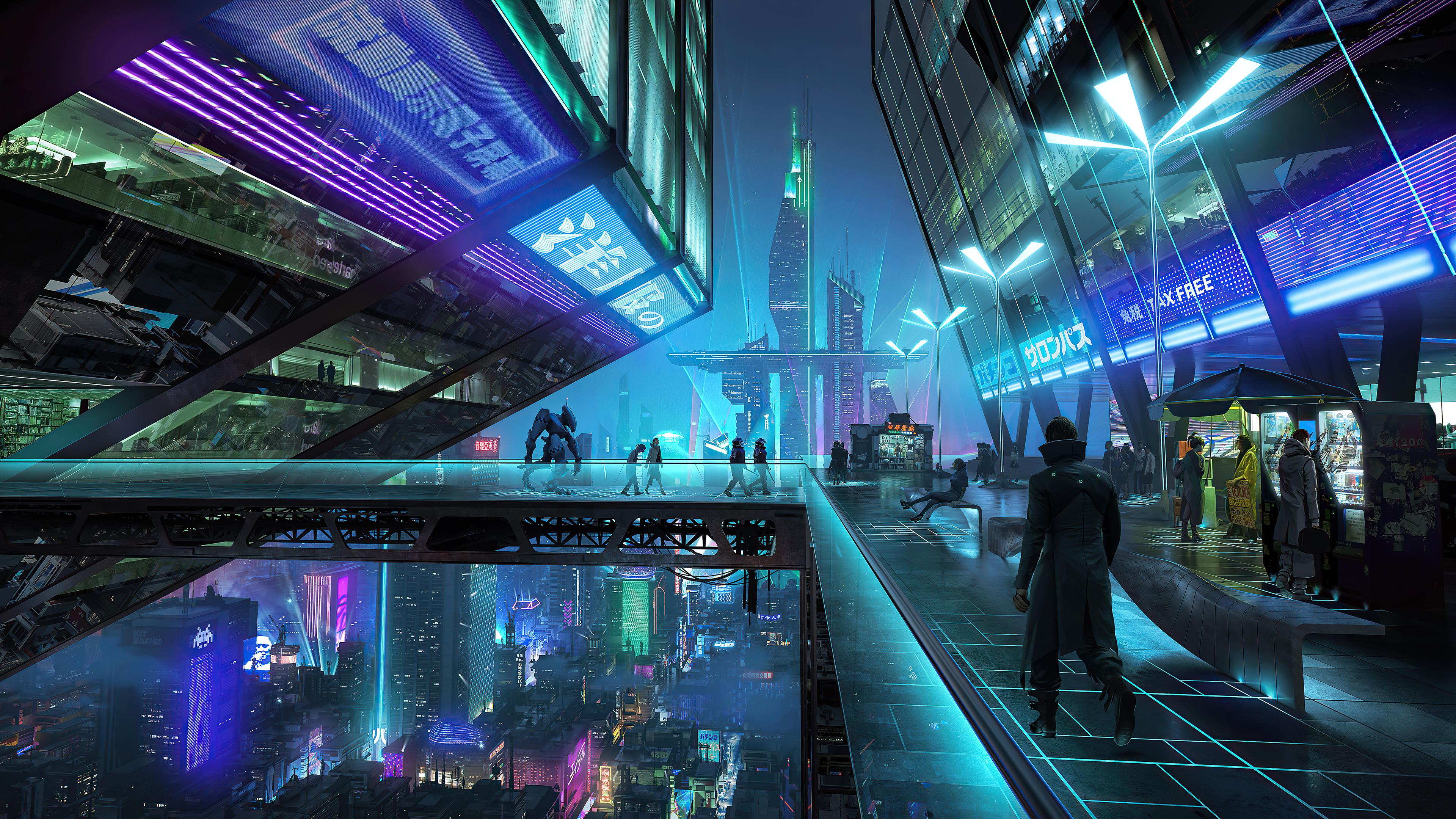 neon city night 4k 1608581672 - Neon City Night 4k - Neon City Night 4k wallpapers