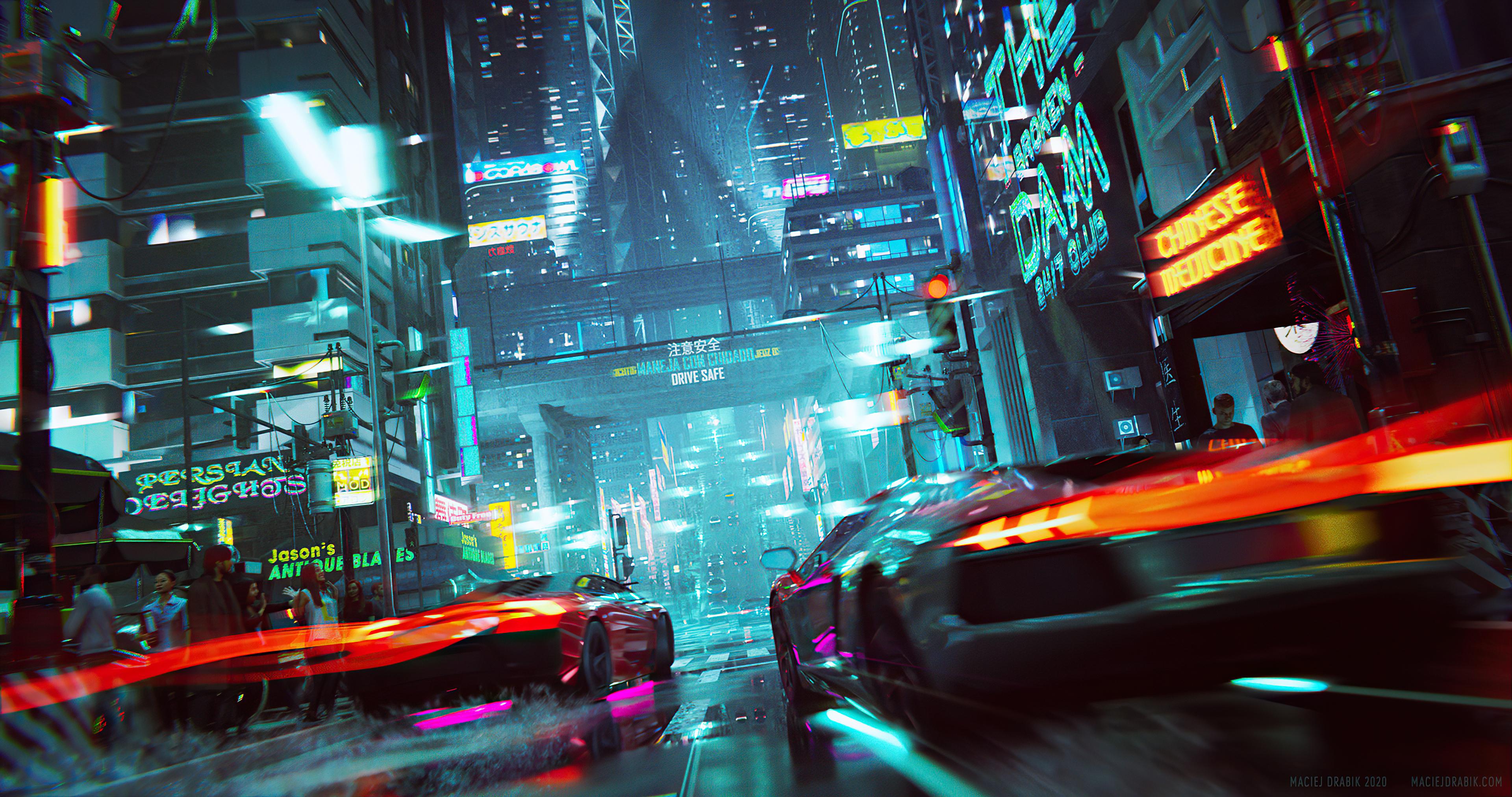 neon cyberpunk city car racing 4k 1608622924 - Neon Cyberpunk City Car Racing 4k - Neon Cyberpunk City Car Racing 4k wallpapers