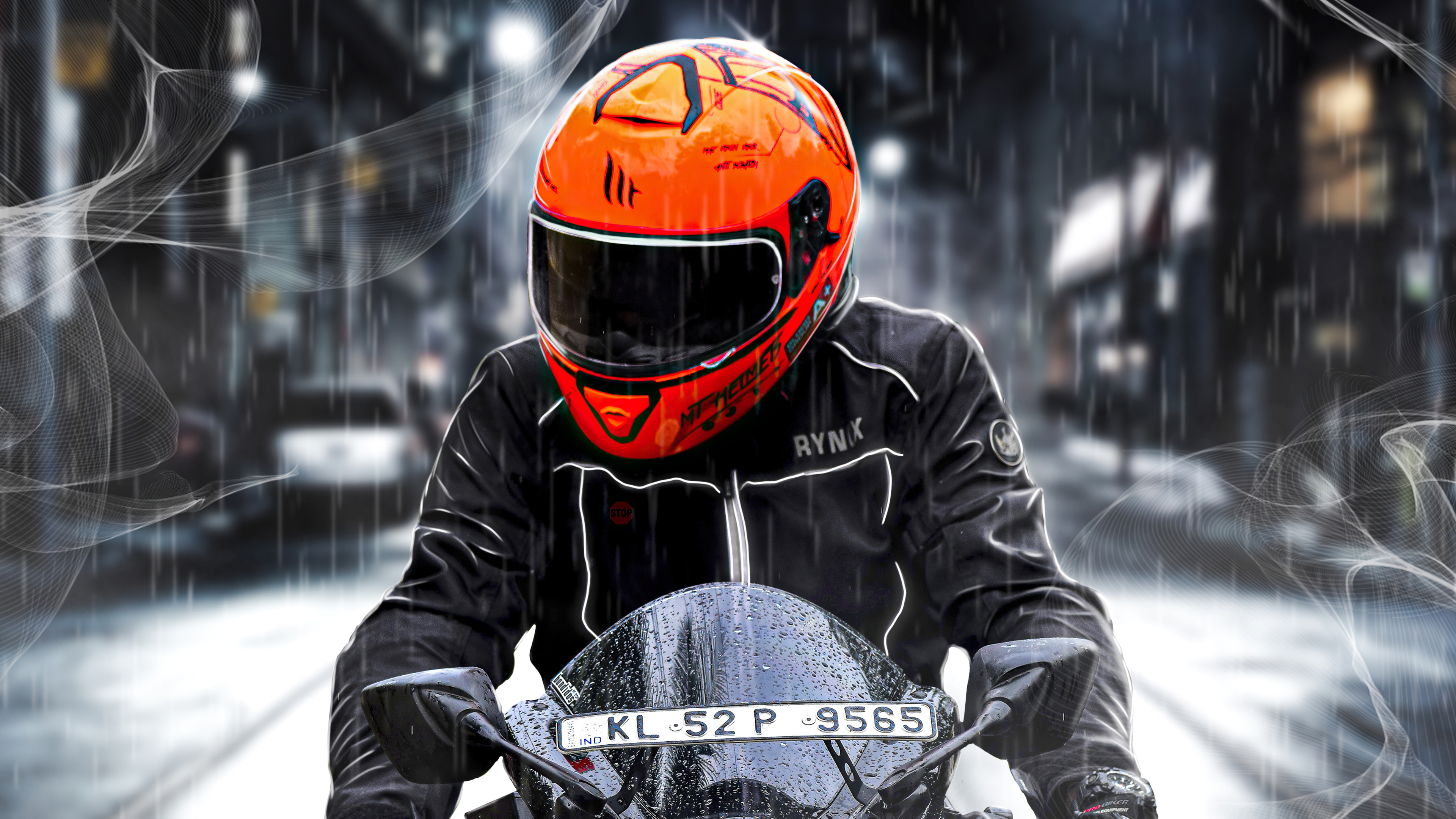 orange helmet biker 4k 1609016167 - Orange Helmet Biker 4k - Orange Helmet Biker 4k wallpapers