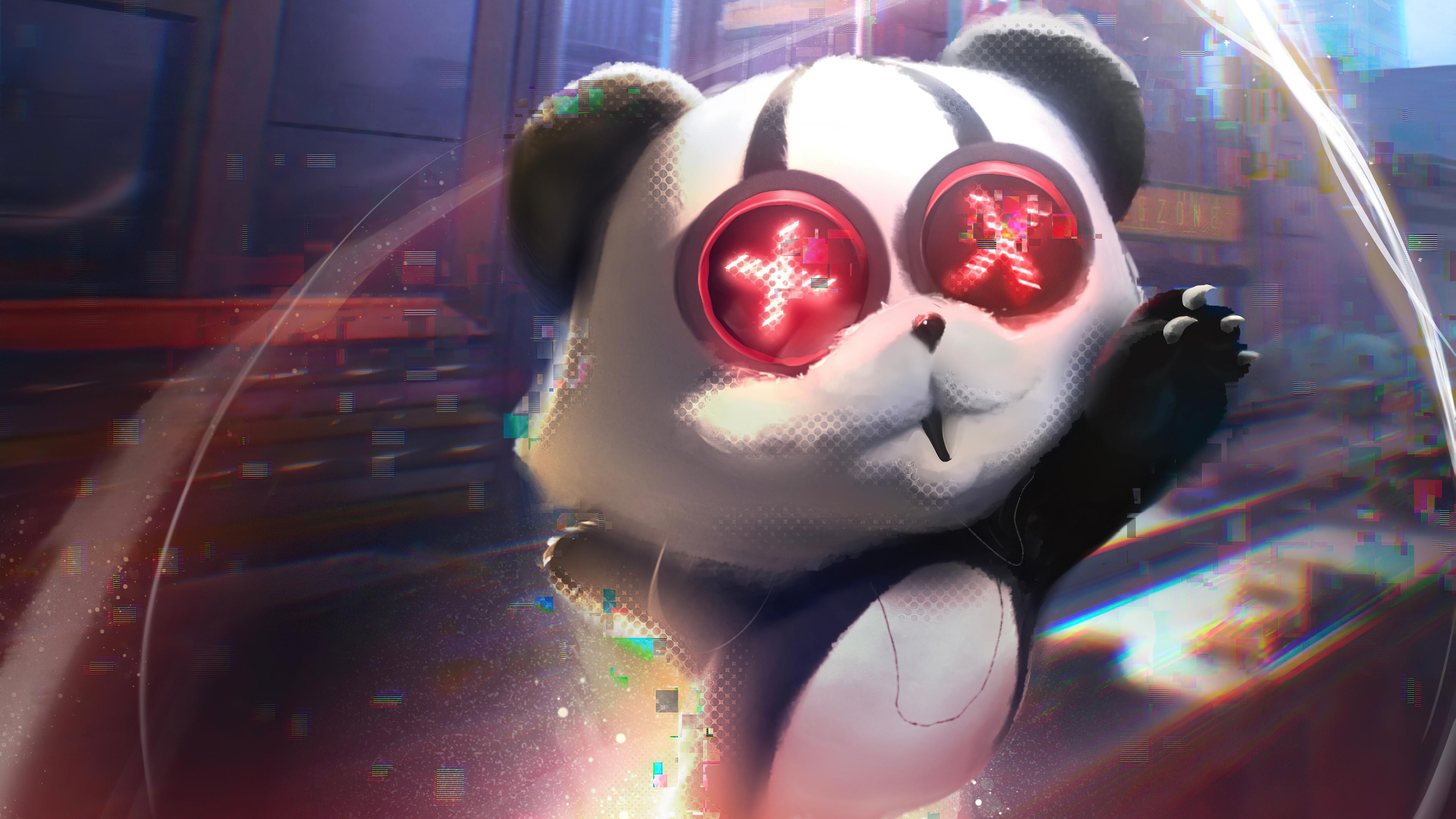 panda cyber city 4k 1608658977 - Panda Cyber City 4k - Panda Cyber City 4k wallpapers