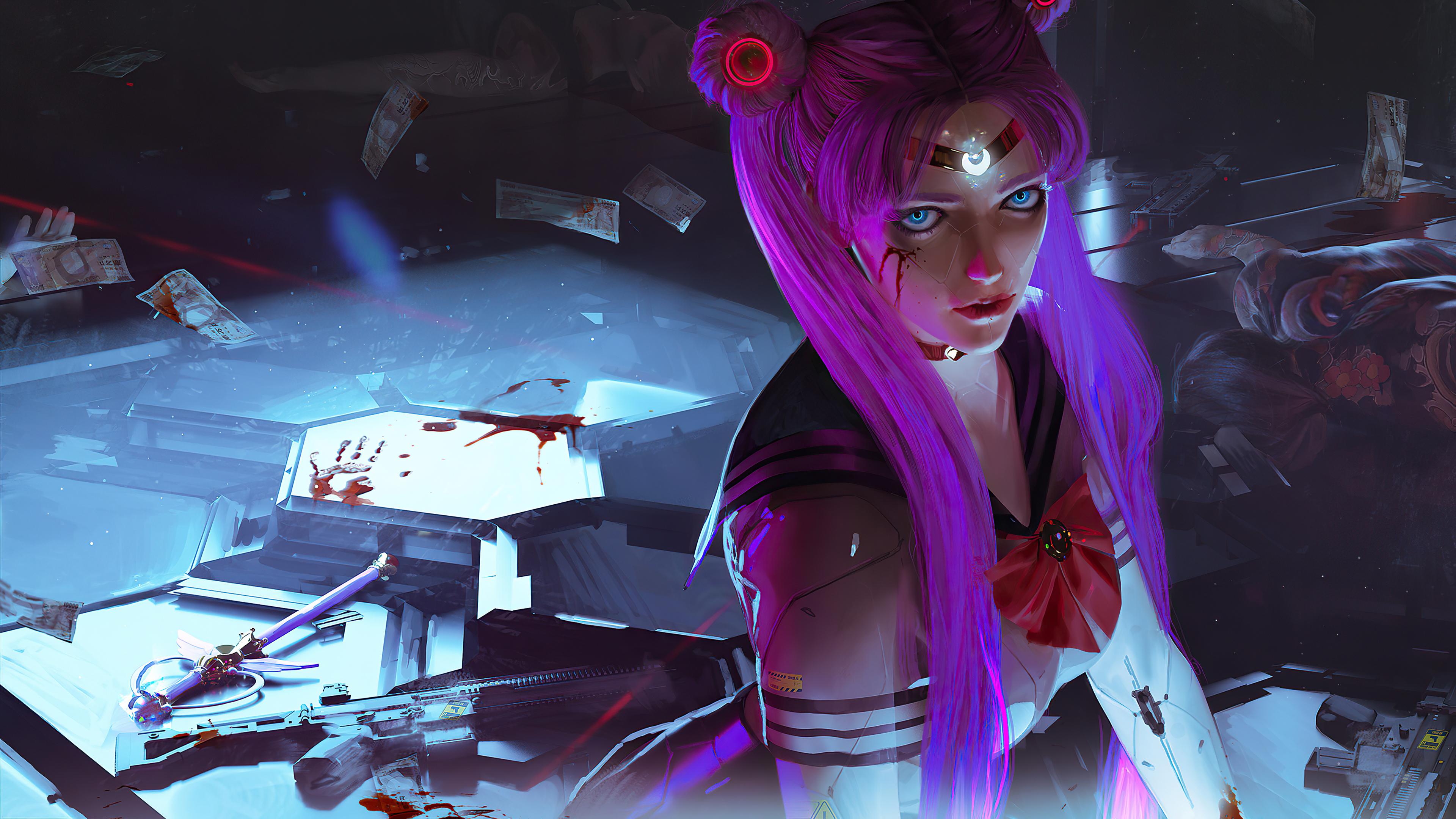 sailor moon cyberpunk girl 4k 1608658977 - Sailor Moon Cyberpunk Girl 4k - Sailor Moon Cyberpunk Girl 4k wallpapers