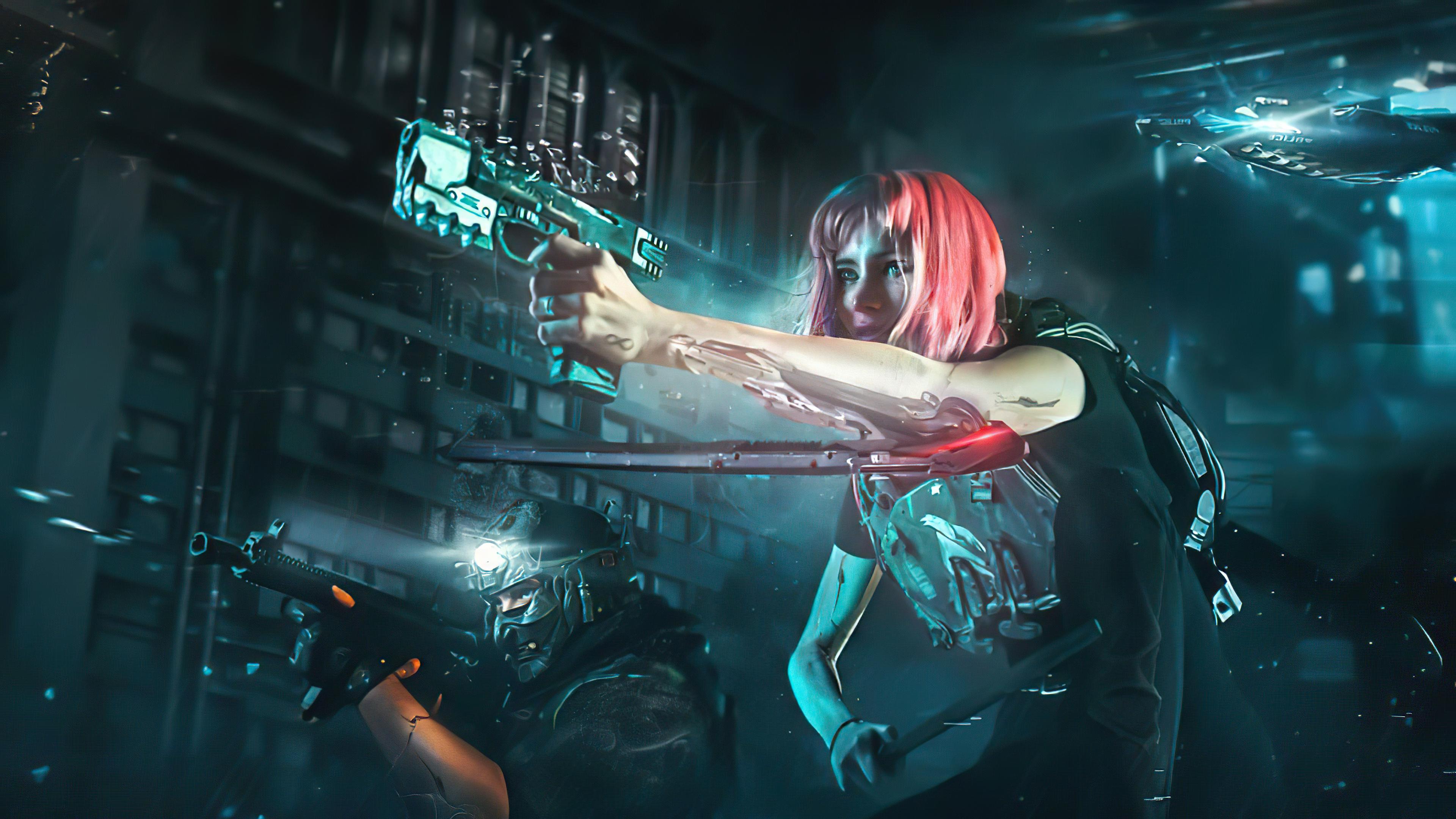 scifi girl shoot those guys 4k 1608658977 - Scifi Girl Shoot Those Guys 4k - Scifi Girl Shoot Those Guys 4k wallpapers