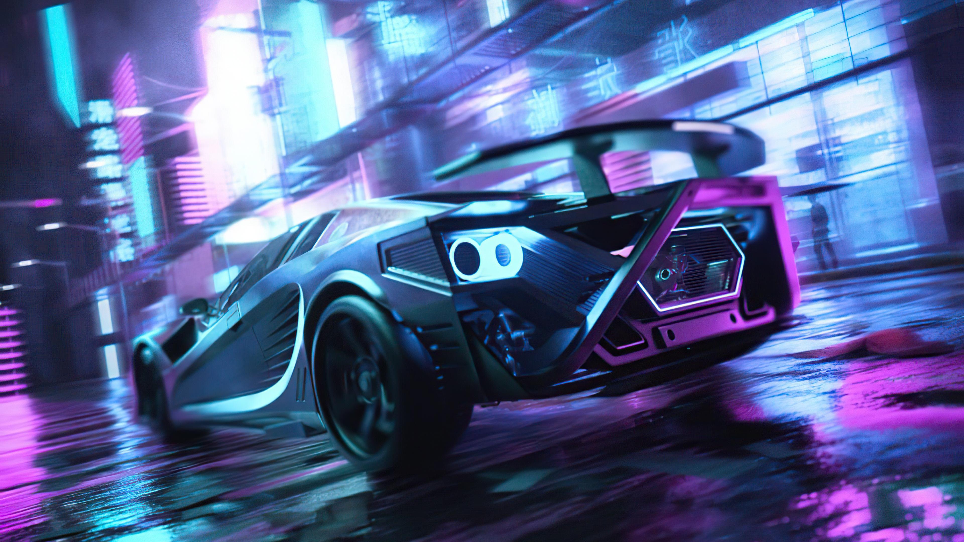 scifi neon cars on street 4k 1608819856 - Scifi Neon Cars On Street 4k - Scifi Neon Cars On Street 4k wallpapers