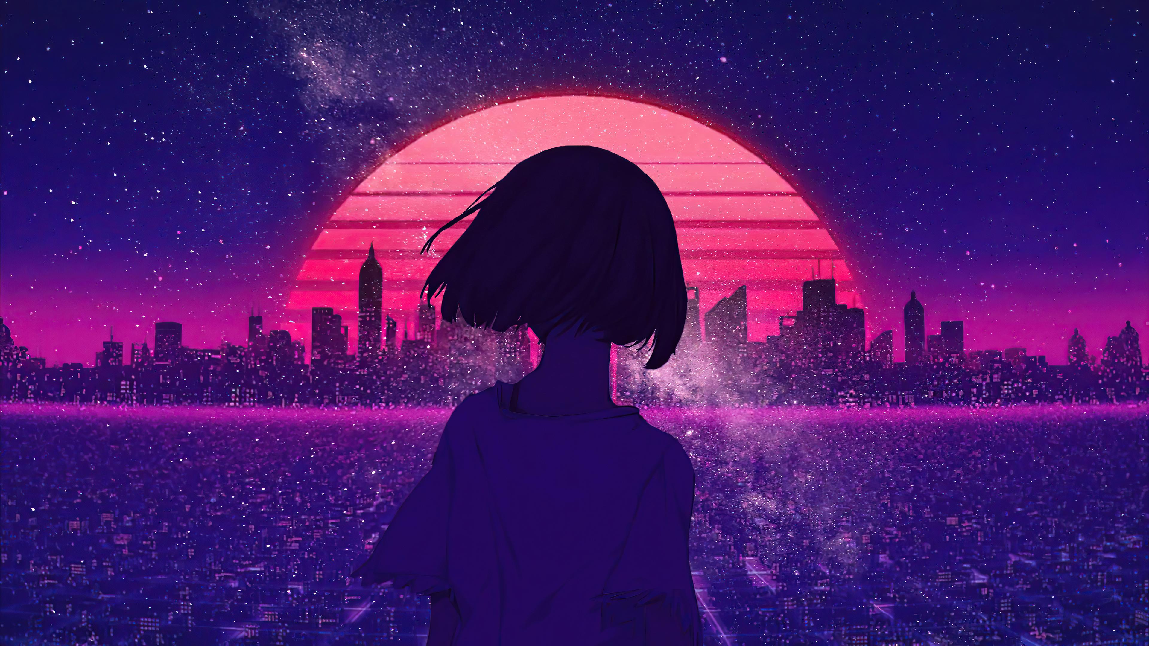 synthwave night sunset anime girl 4k 1608581305 - Synthwave Night Sunset Anime Girl 4k - Synthwave Night Sunset Anime Girl 4k wallpapers