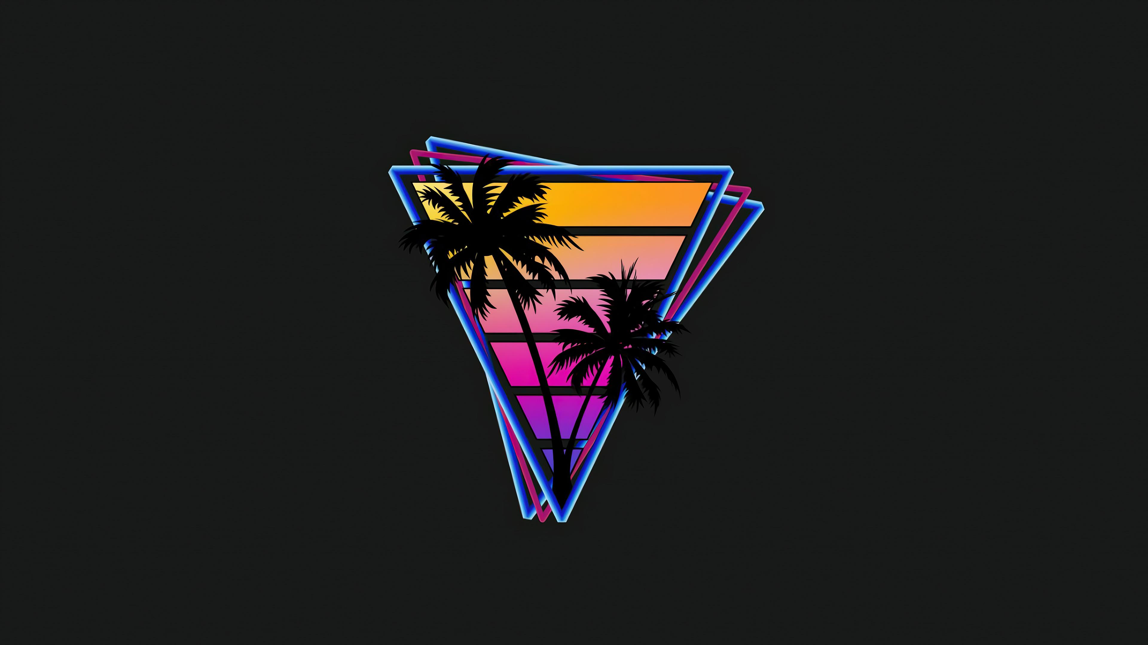 vaporwave triangle palm trees 4k 1608579496 - Vaporwave Triangle Palm Trees 4k - Vaporwave Triangle Palm Trees 4k wallpapers