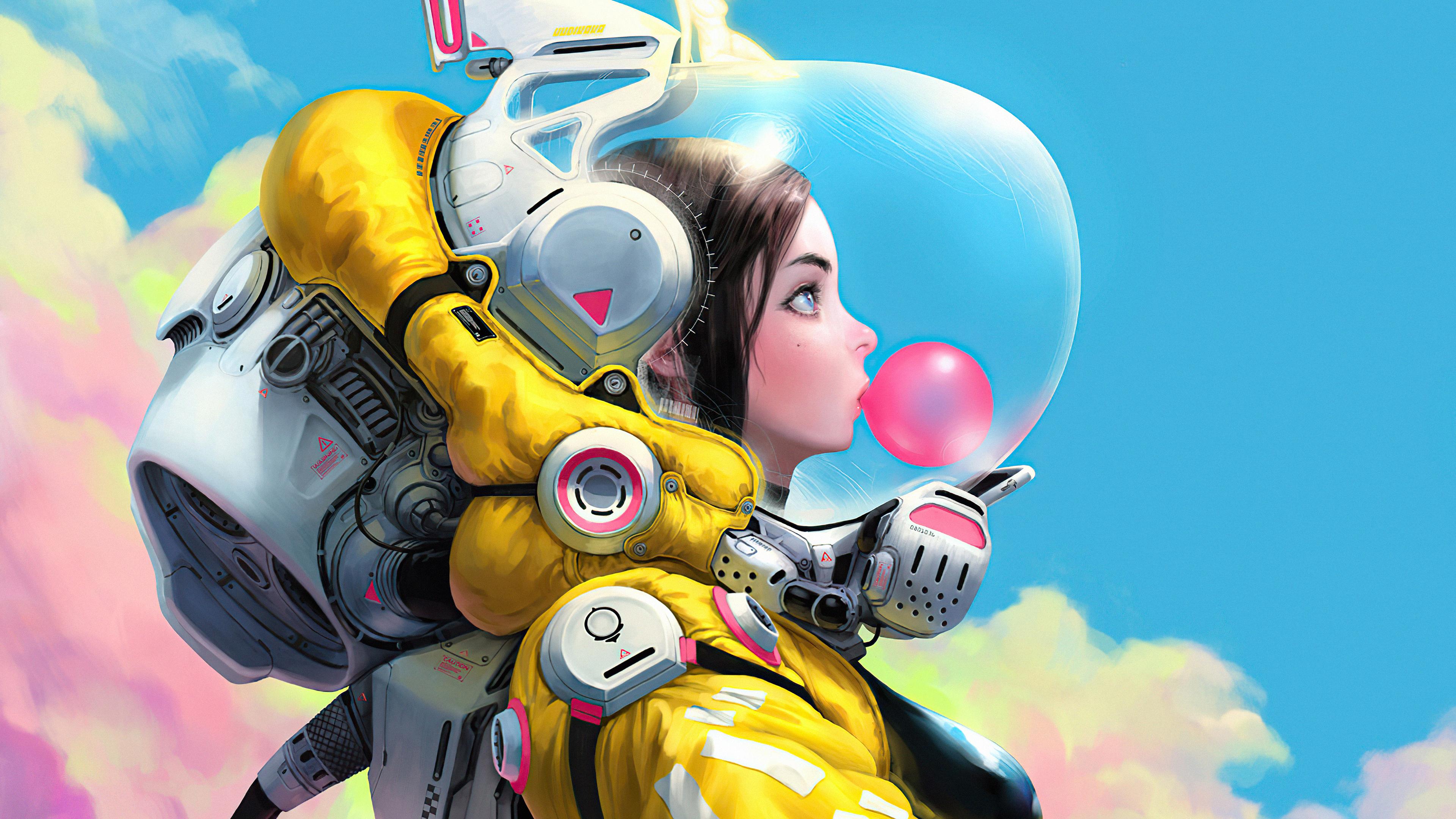 bubblegum space girl 4k 1614624754 - Bubblegum Space Girl 4k - Bubblegum Space Girl 4k wallpapers