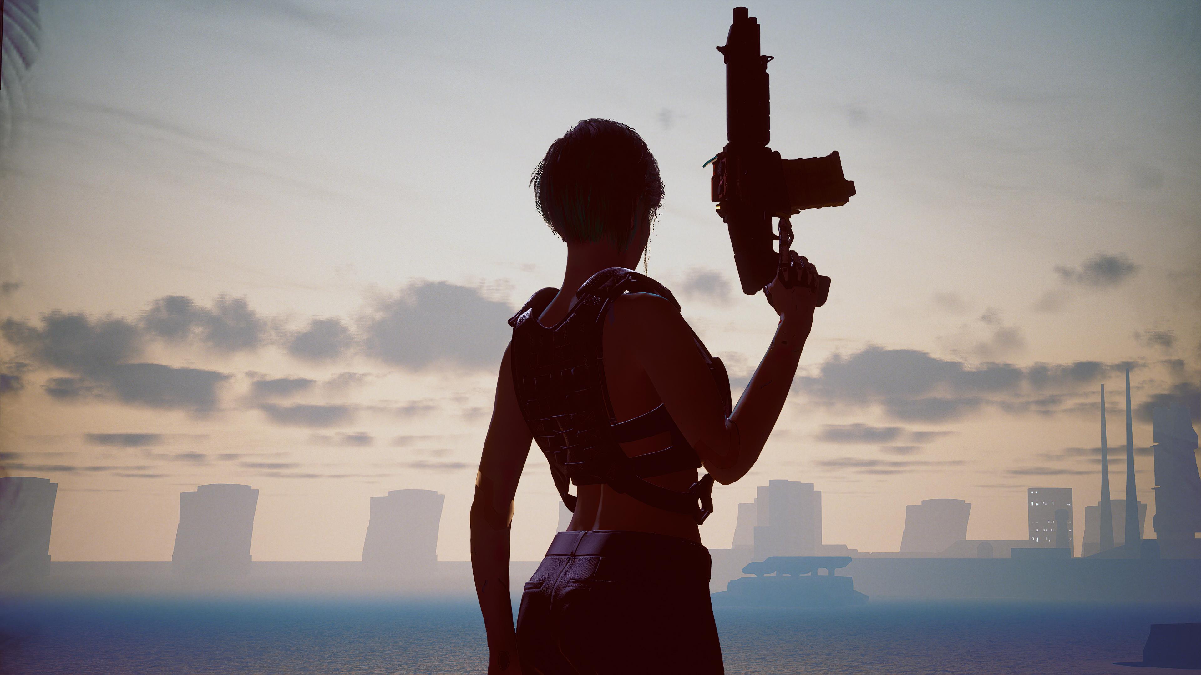 cyberpunk 2077 girl with shotgun 4k 1615136301 - Cyberpunk 2077 Girl With Shotgun 4k - Cyberpunk 2077 Girl With Shotgun 4k wallpapers
