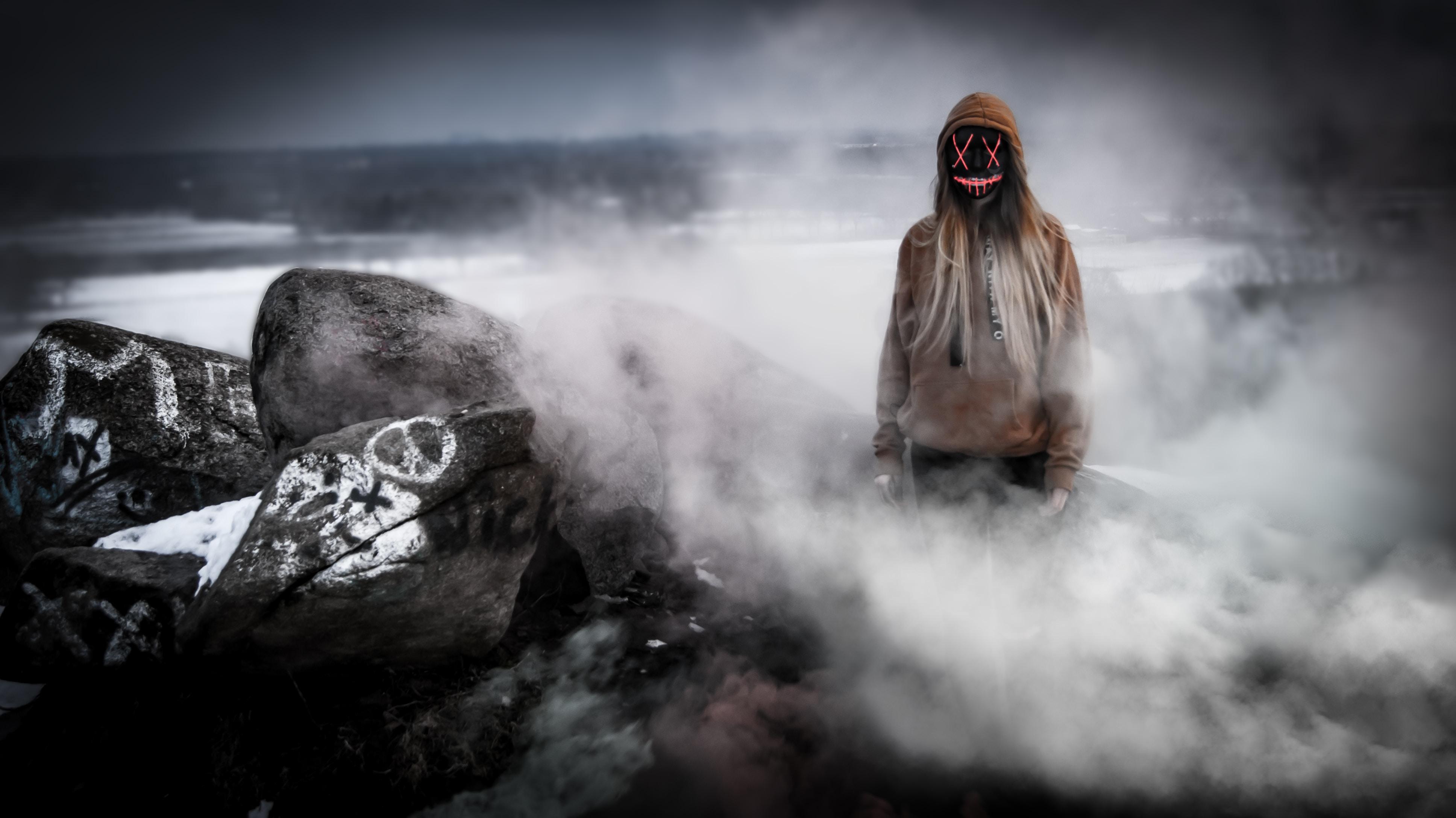 horror girl mask smoke 4k 1616092567 - Horror Girl Mask Smoke 4k - Horror Girl Mask Smoke 4k wallpapers
