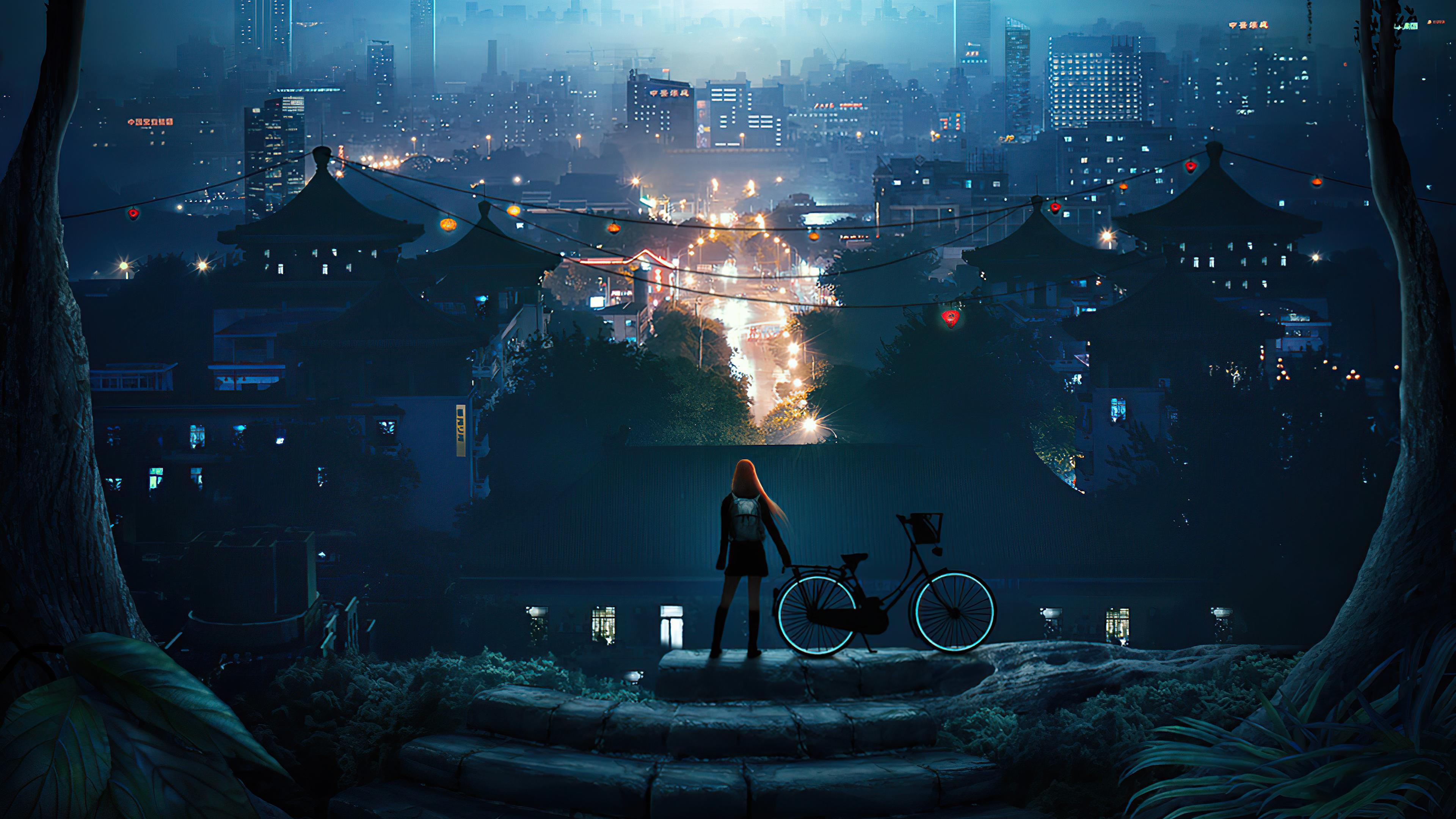 late bike ride 4k 1616874191 - Late Bike Ride 4k - Late Bike Ride 4k wallpapers
