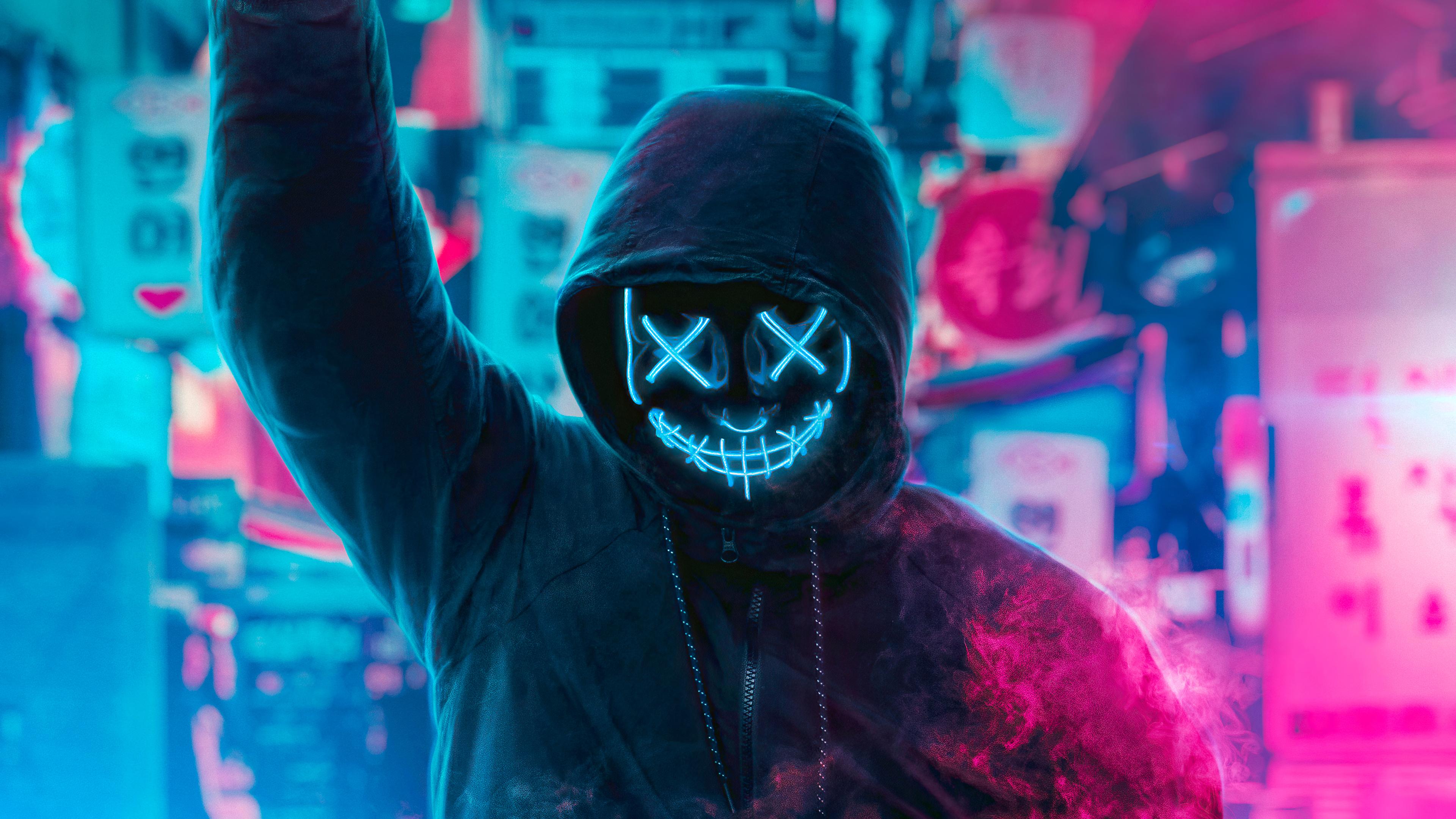 mask guy neon man with smoke bomb 4k 1616093496 - Mask Guy Neon Man With Smoke Bomb 4k - Mask Guy Neon Man With Smoke Bomb 4k wallpapers