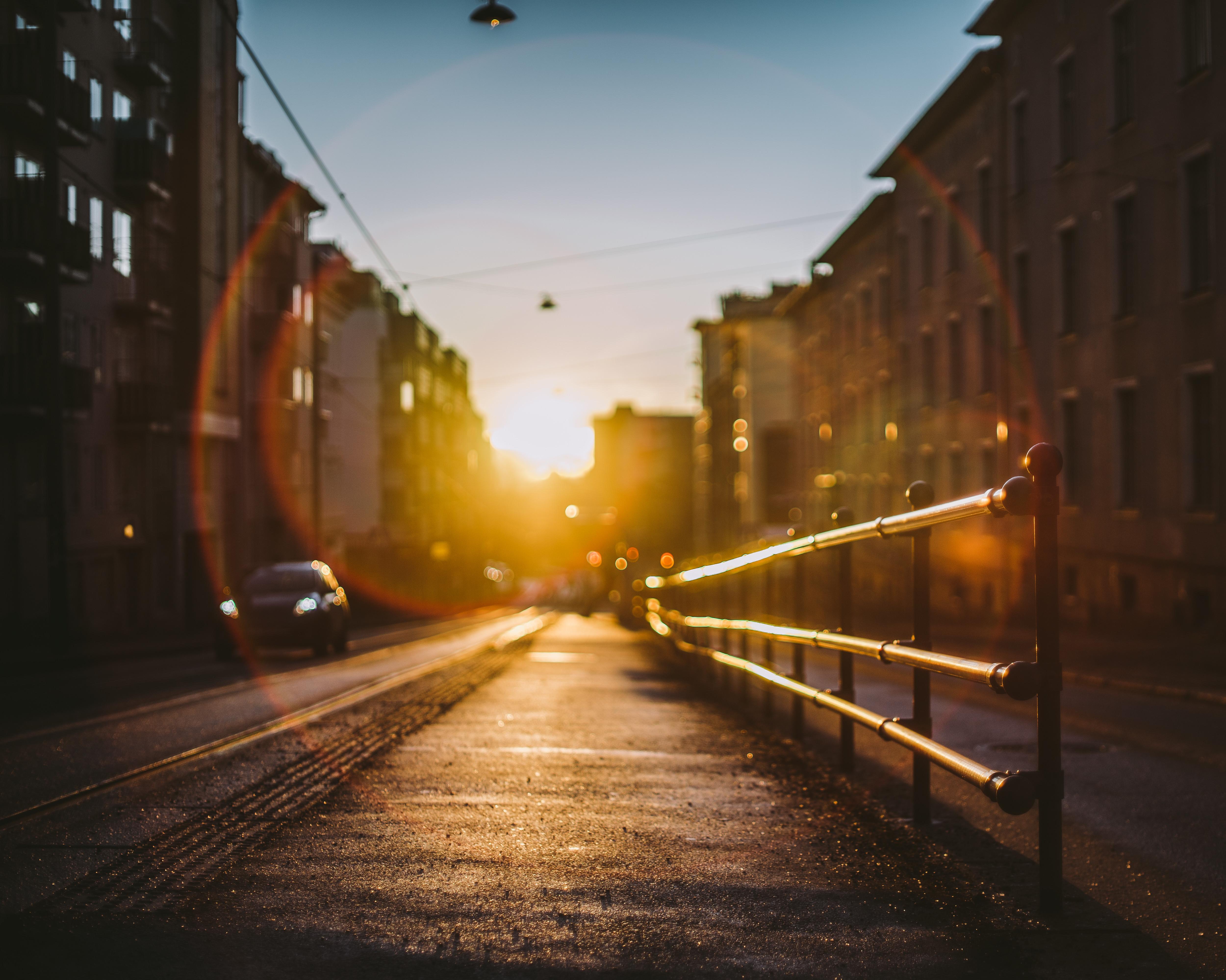 norway city sunset railing 4k 1616092001 - Norway City Sunset Railing 4k - Norway City Sunset Railing 4k wallpapers