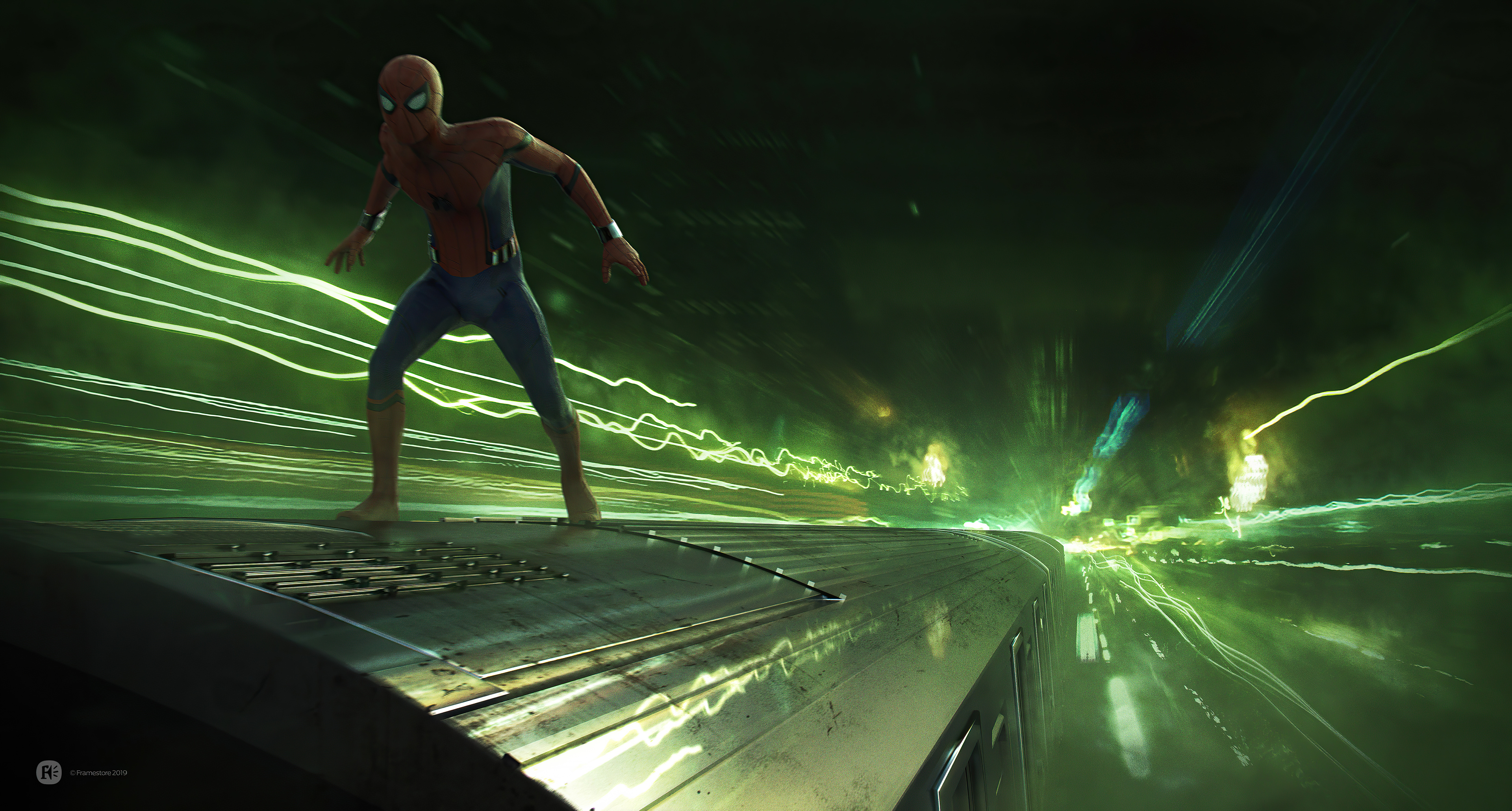 spider man far from home light speed train 4k 1616960422 - Spider Man Far From Home Light Speed Train 4k - Spider Man Far From Home Light Speed Train 4k wallpapers